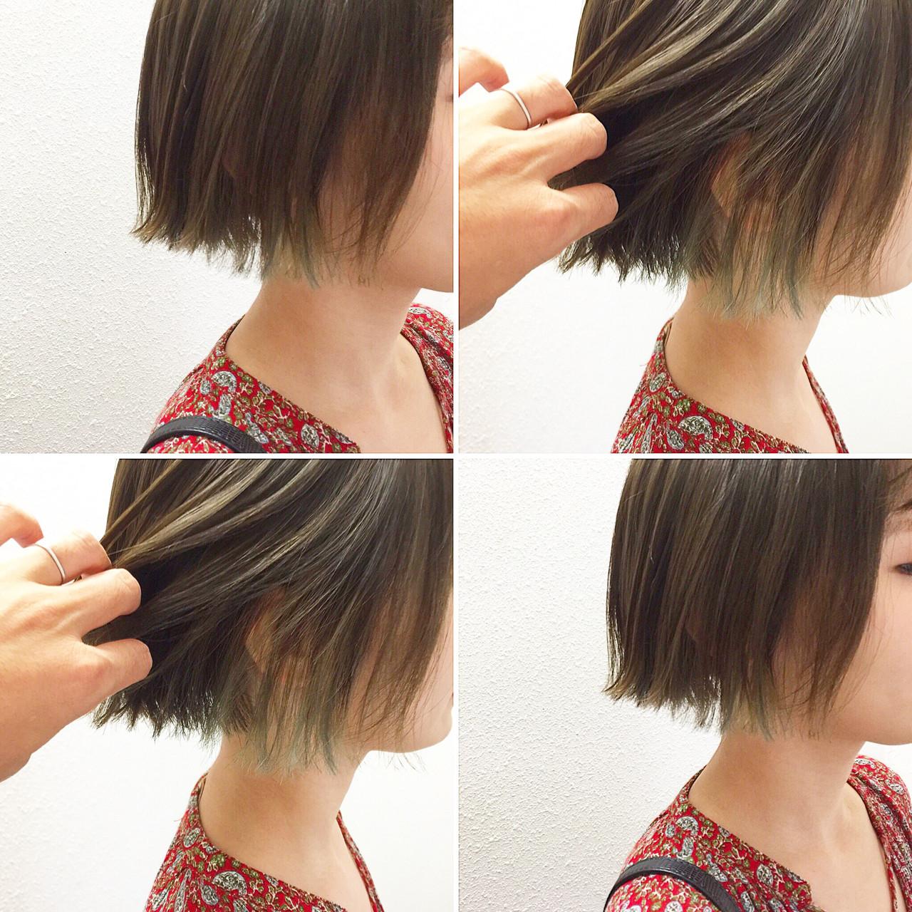 モード ボブ 抜け感 無造作 ヘアスタイルや髪型の写真・画像