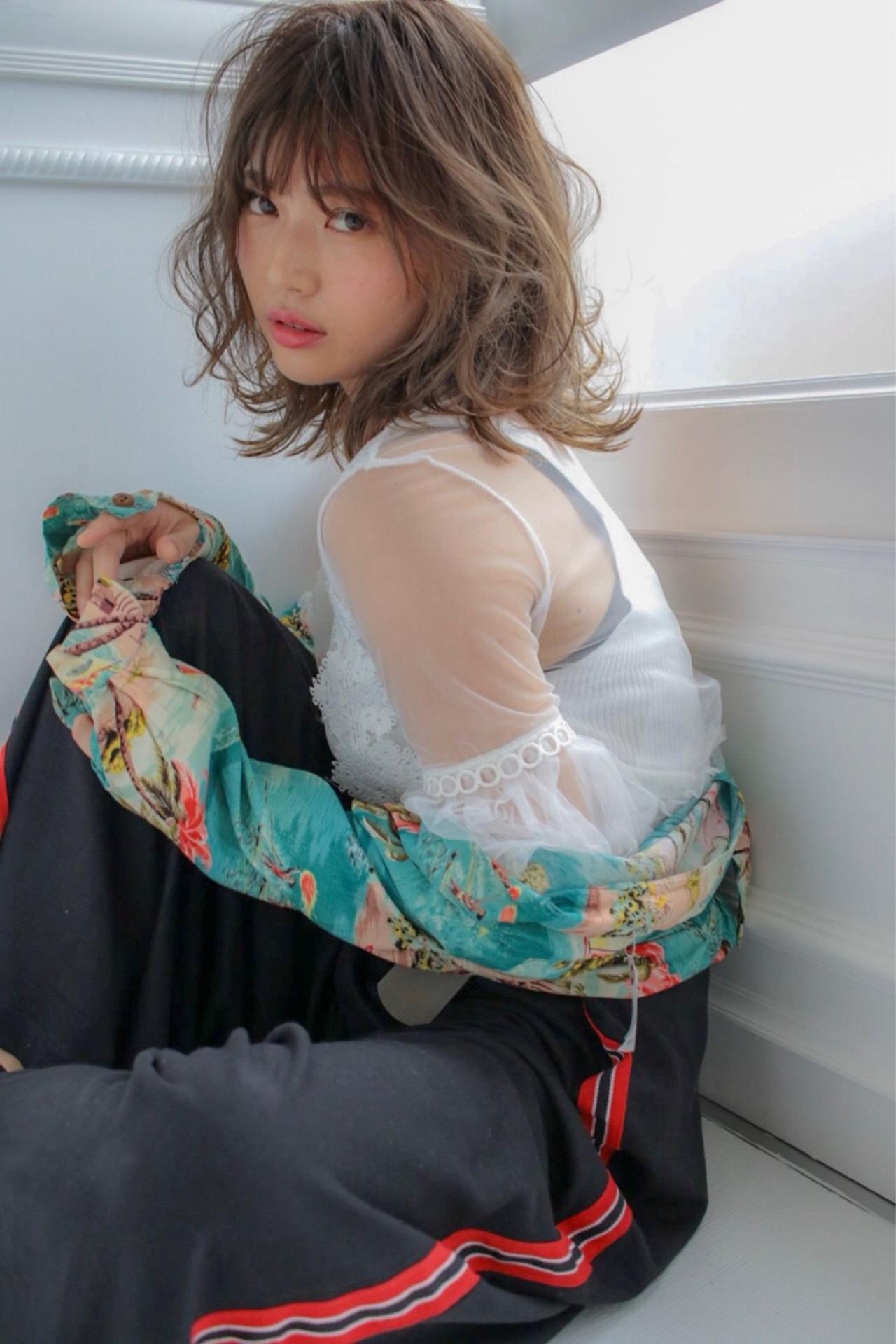 フェミニン ウェーブ 外国人風 ボブ ヘアスタイルや髪型の写真・画像 | 小峰孝太/ JUICE店長 /  JUICE