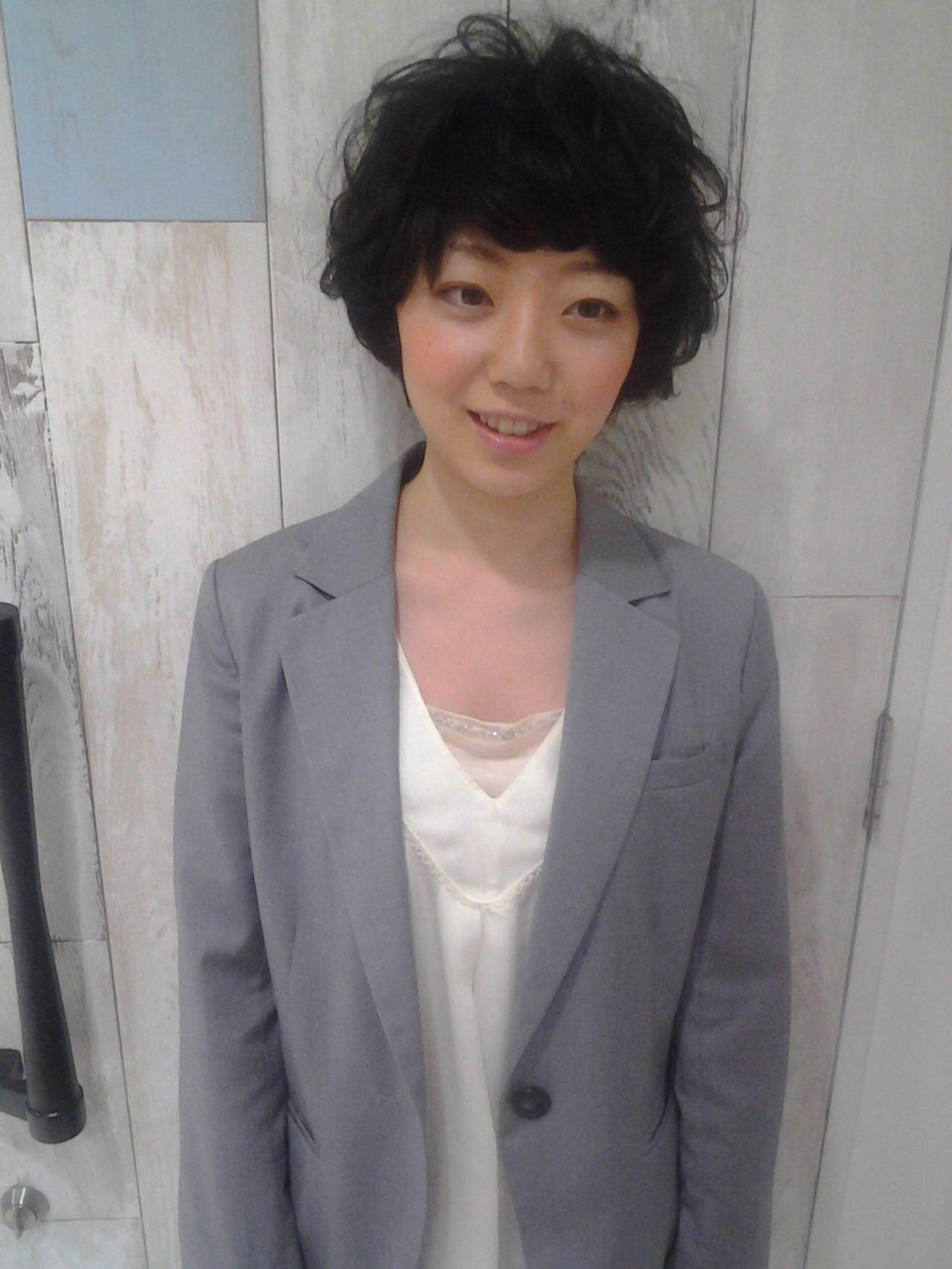 フェミニン 小顔 エフォートレス ショート ヘアスタイルや髪型の写真・画像