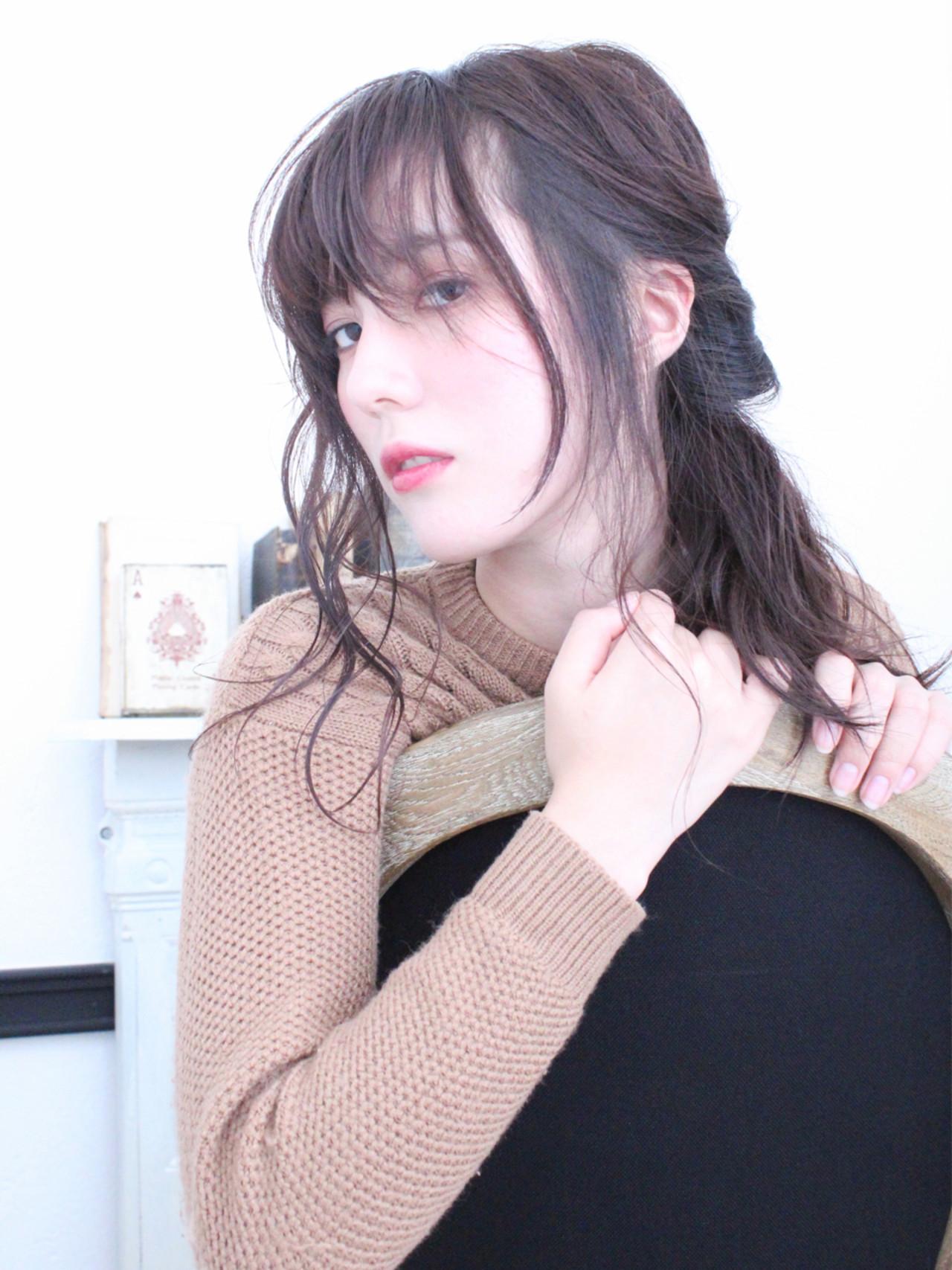 簡単ヘアアレンジ ショート ハーフアップ 冬 ヘアスタイルや髪型の写真・画像 | 上田智久 / ooit 福岡 天神 / ooit