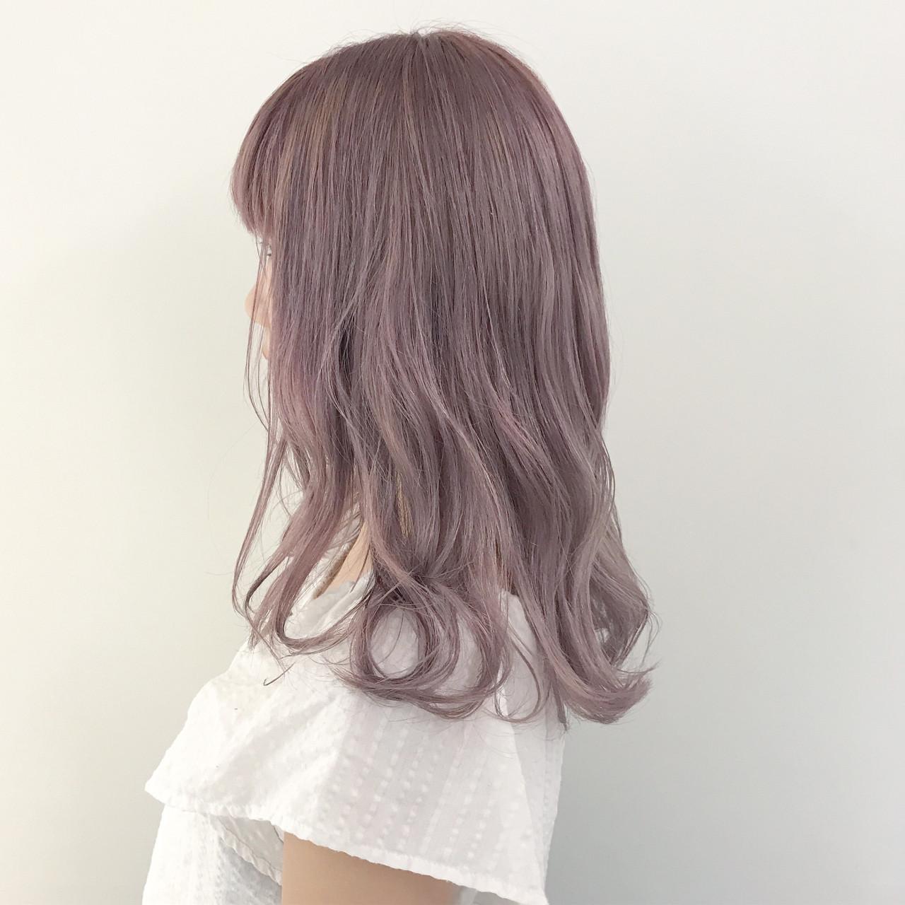 ハロウィン ラベンダーアッシュ ガーリー ラベンダーピンク ヘアスタイルや髪型の写真・画像