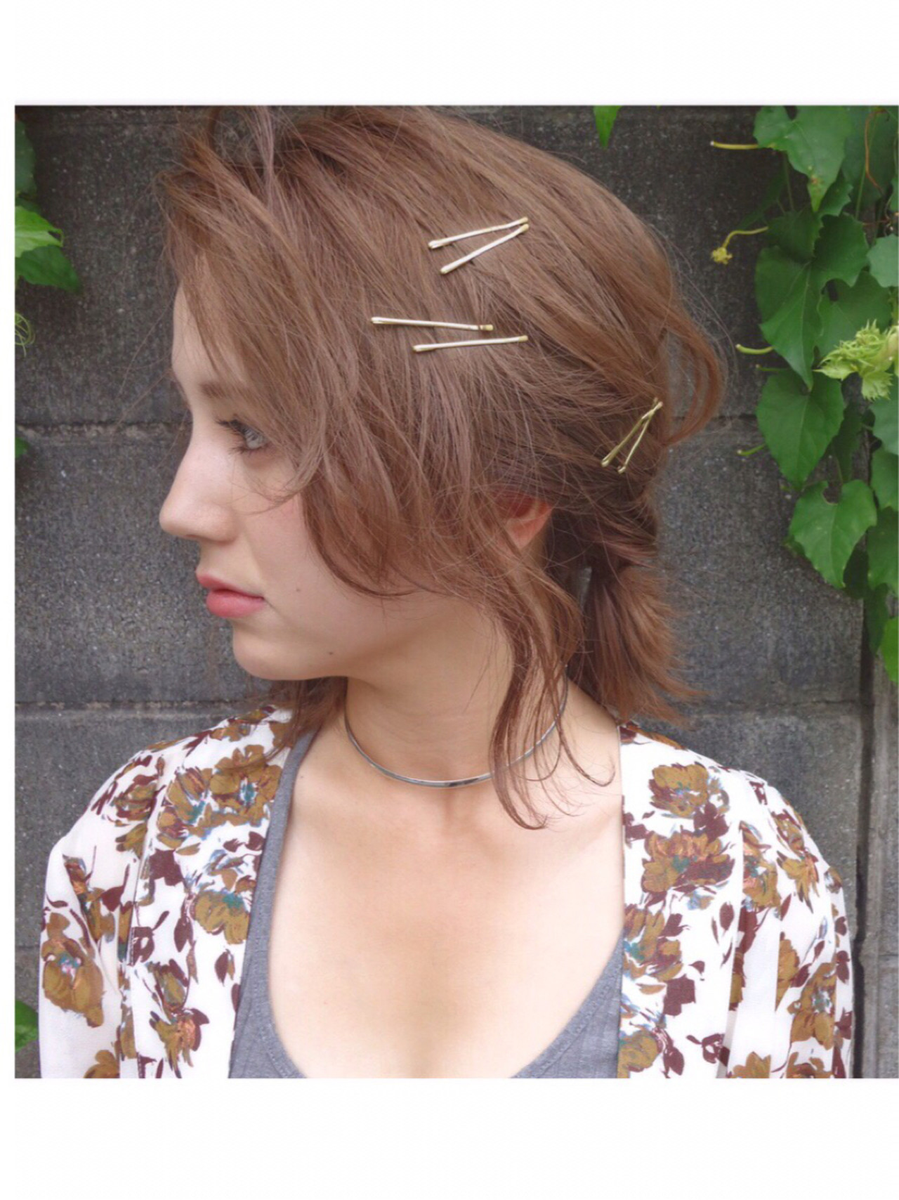 セミロング ナチュラル ゆるふわ ショート ヘアスタイルや髪型の写真・画像