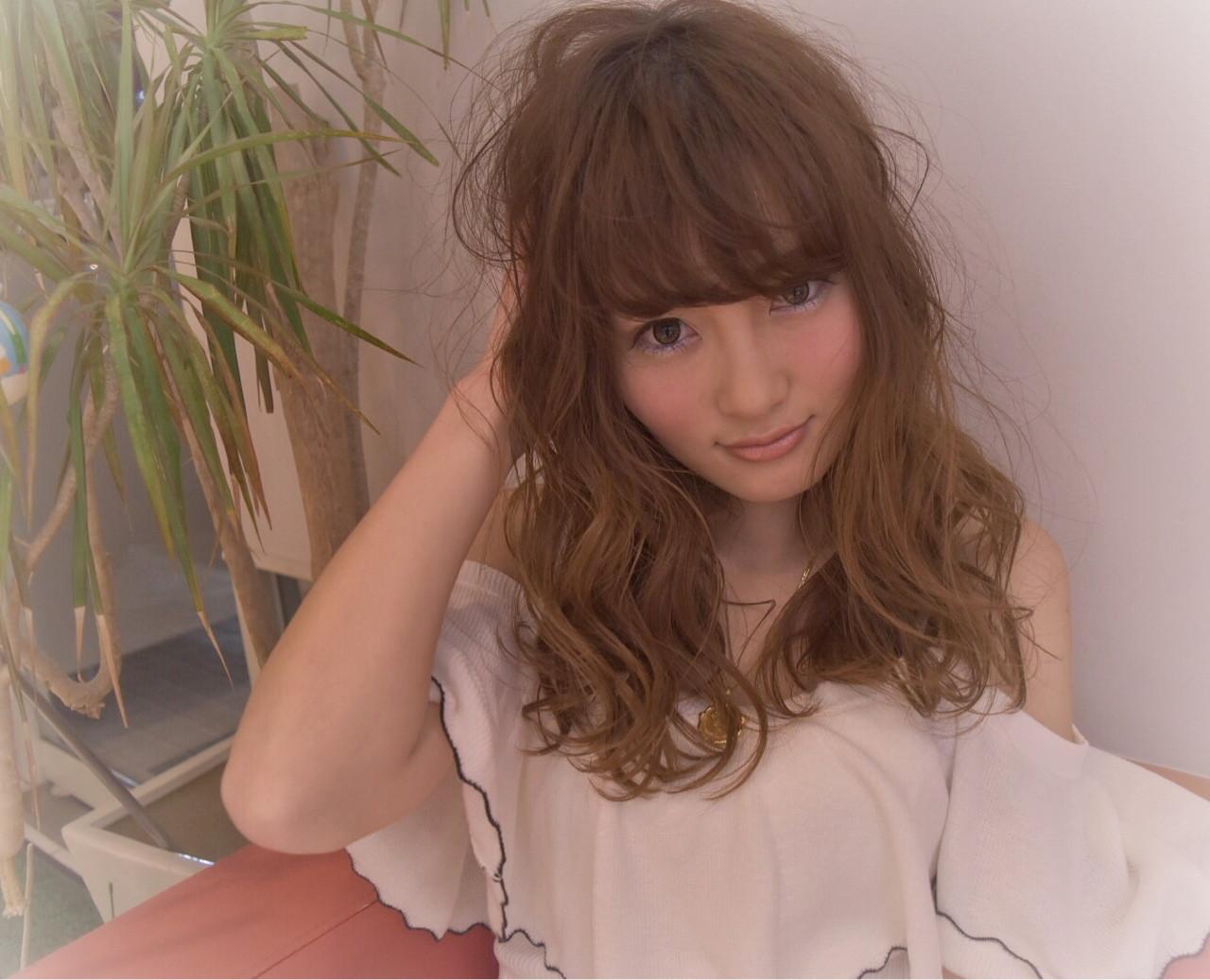 大人女子 ニュアンス 小顔 セミロング ヘアスタイルや髪型の写真・画像