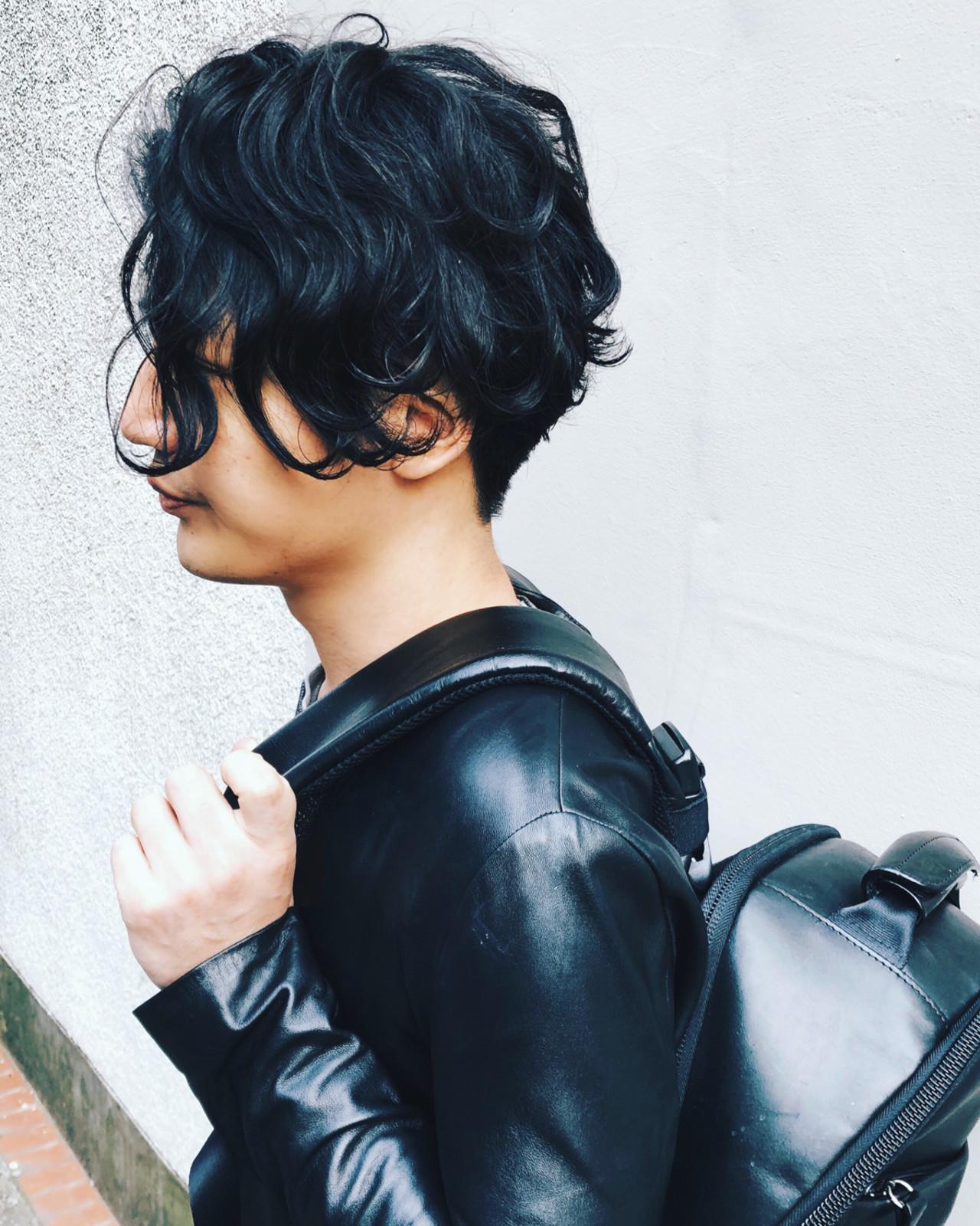 メンズパーマ メンズヘア メンズスタイル ミディアム ヘアスタイルや髪型の写真・画像 | 斉藤潤一 / ROCO  SPEARZ