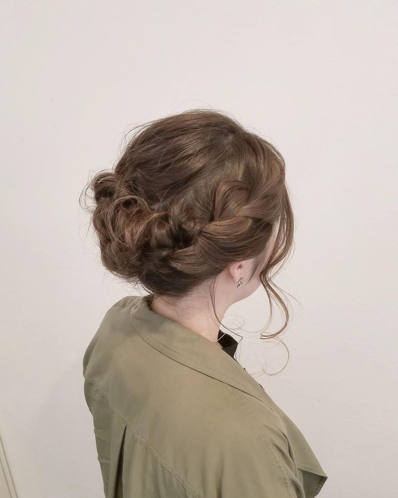 成人式 フェミニン ヘアアレンジ デート ヘアスタイルや髪型の写真・画像
