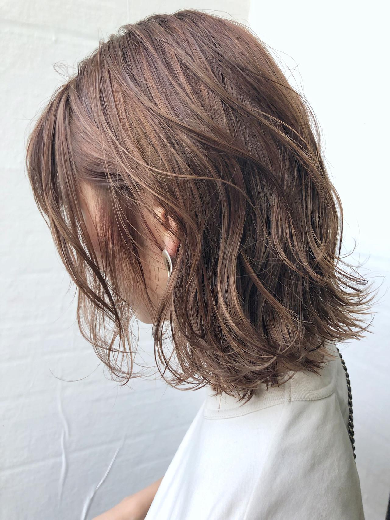 秋ブラウン ショコラブラウン ミディアム ブラウンベージュ ヘアスタイルや髪型の写真・画像