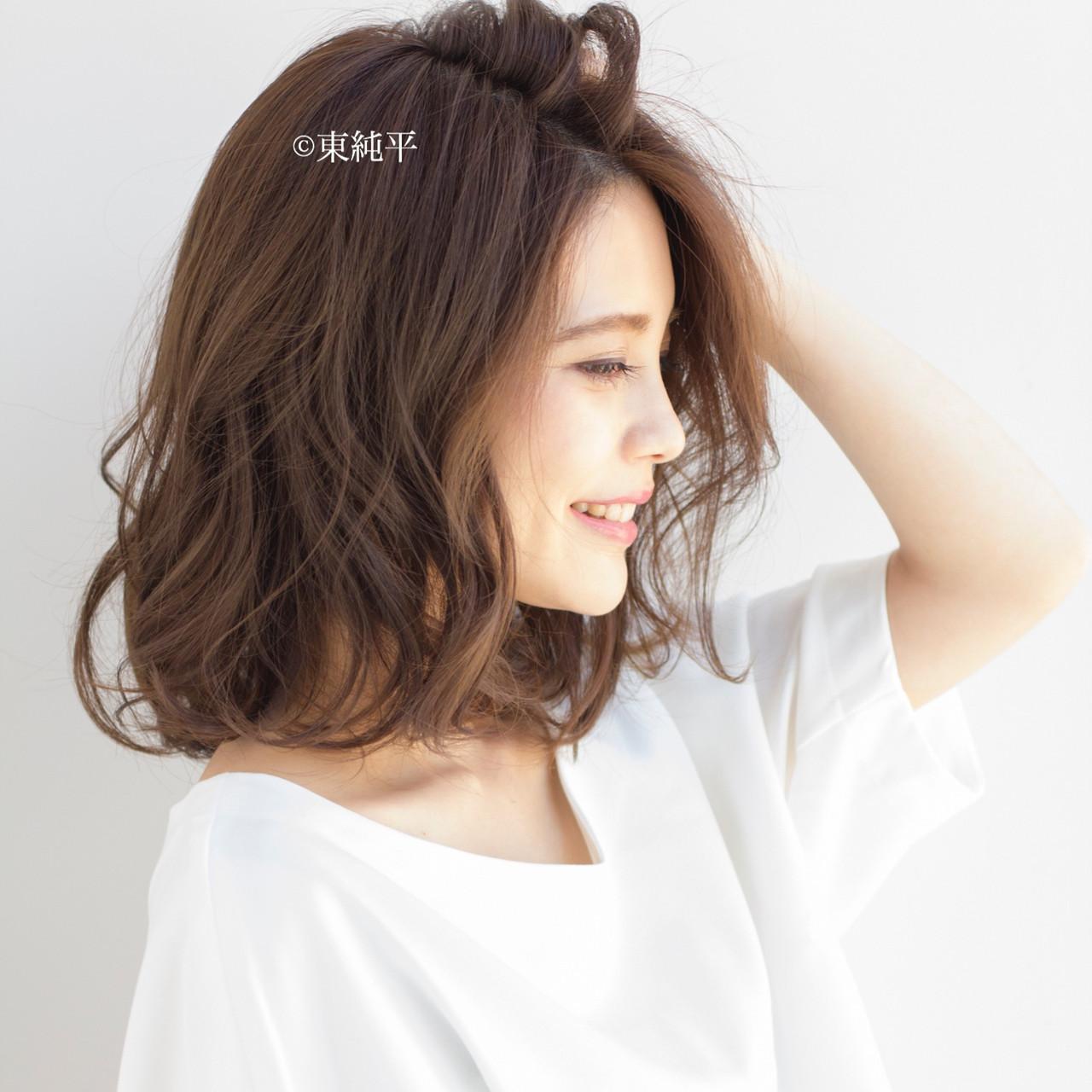 ボブ パーマ ナチュラル 大人可愛い ヘアスタイルや髪型の写真・画像 | 【ボブのスペシャリスト】東 純平 / Gallica mimami aoyama