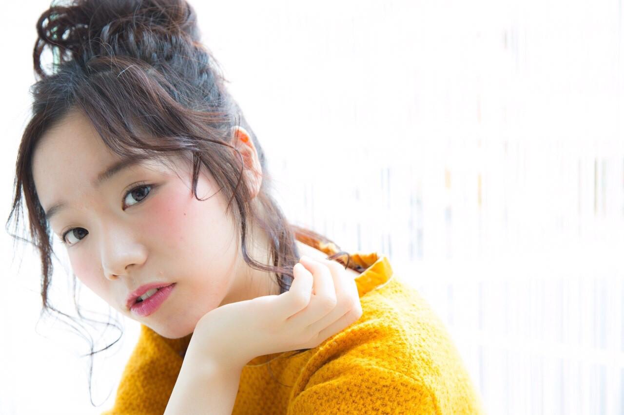 ショート パーマ ヘアアレンジ ゆるふわ ヘアスタイルや髪型の写真・画像 | risa /