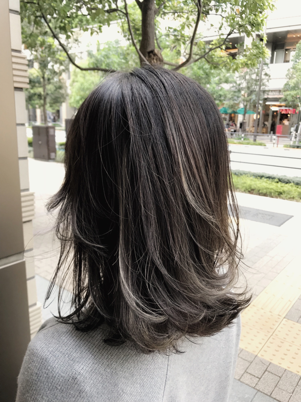 ミディアム グラデーションカラー 外国人風 バレイヤージュ ヘアスタイルや髪型の写真・画像   長谷川 龍太 / hair design tea