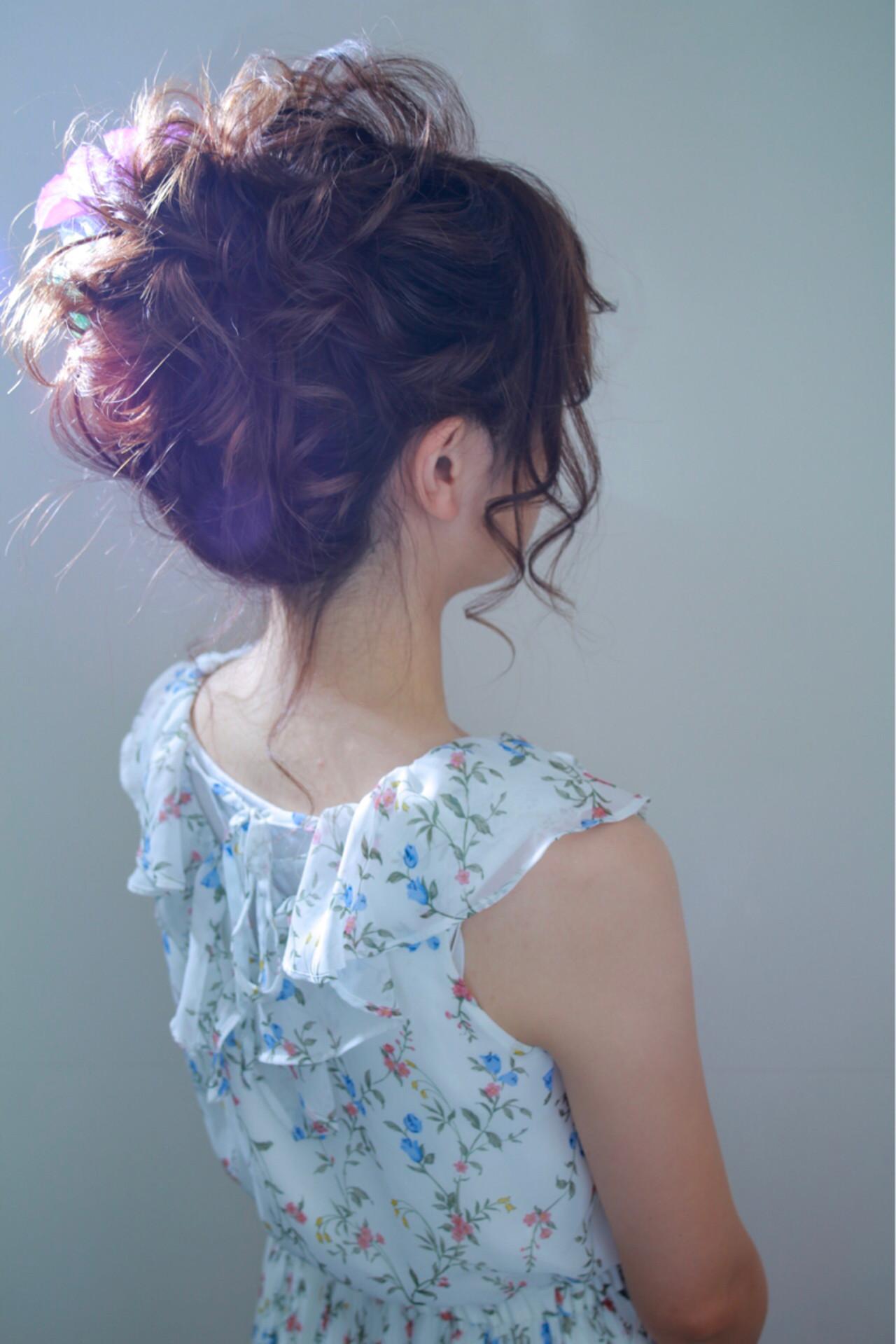結婚式 デート 外国人風カラー ナチュラル ヘアスタイルや髪型の写真・画像