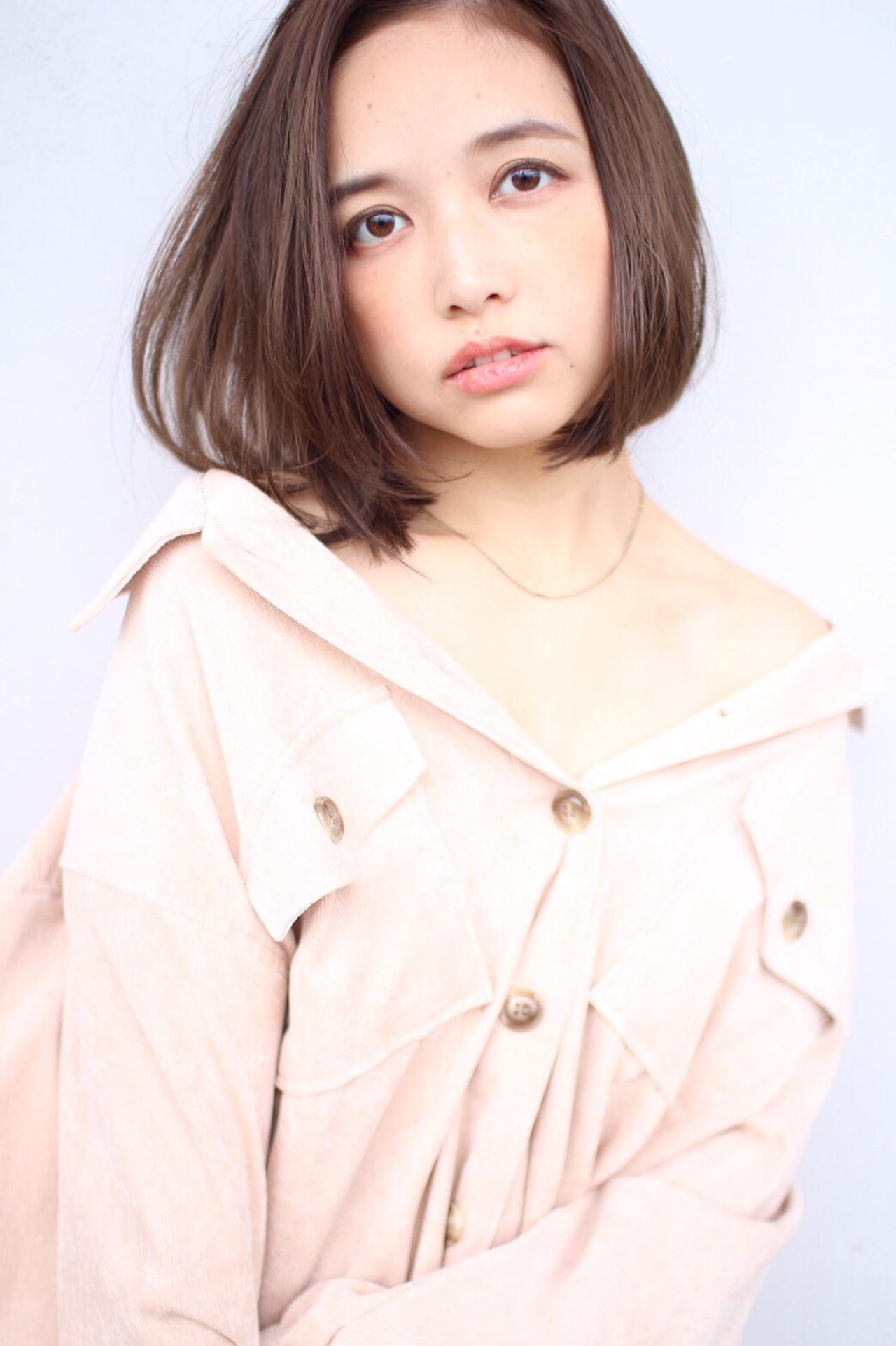 モテ髮シルエット ナチュラル ミニボブ ボブ ヘアスタイルや髪型の写真・画像   affect・Misuzu / affect