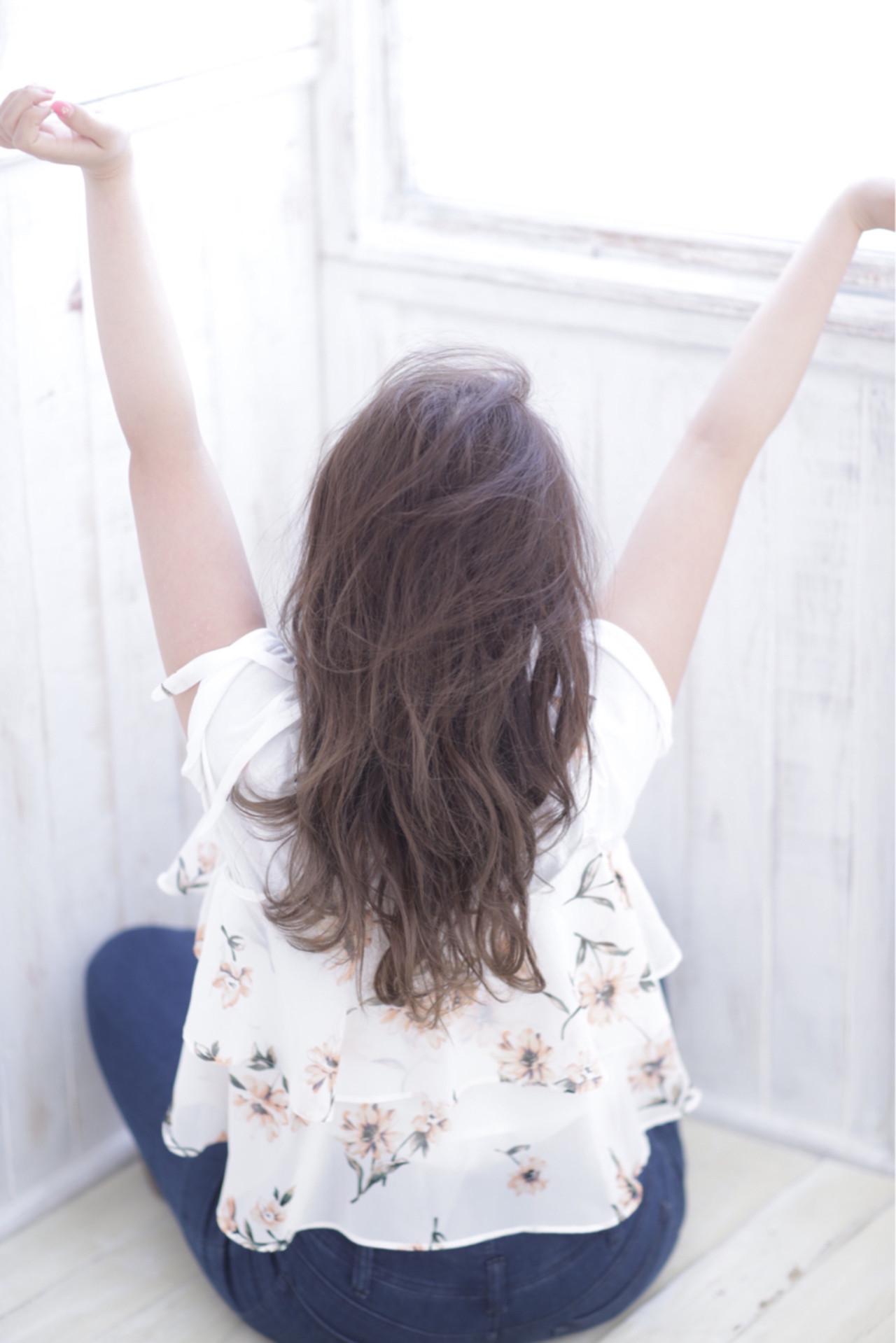 ロング コンサバ 夏 ラフ ヘアスタイルや髪型の写真・画像