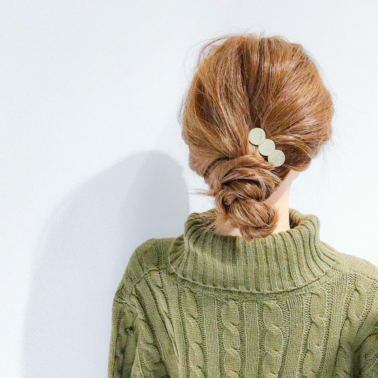 アウトドア セミロング ヘアアレンジ オフィス ヘアスタイルや髪型の写真・画像 | 美容師HIRO/Amoute代表 / Amoute/アムティ