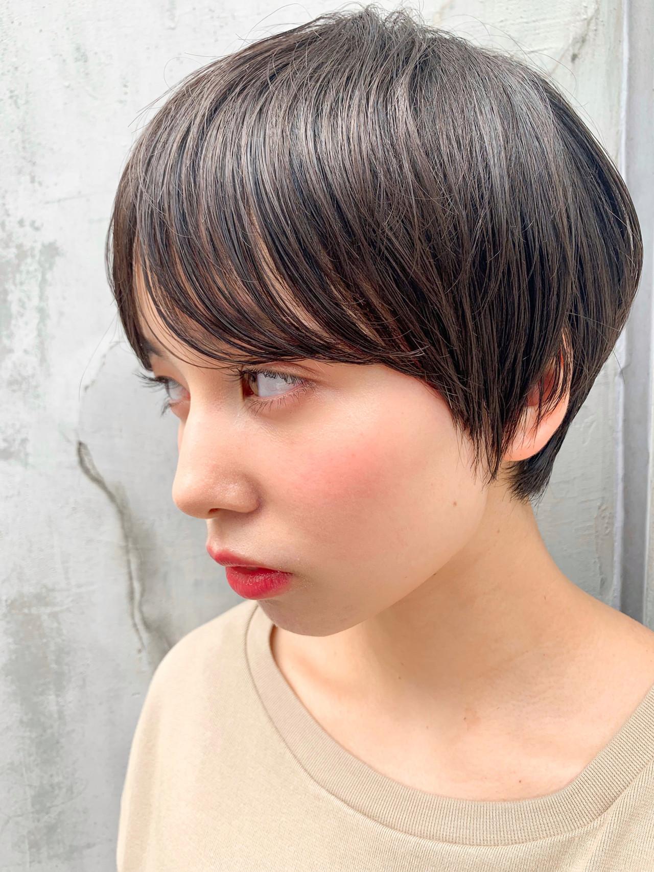ショートヘア 丸みショート ナチュラル ショートボブ ヘアスタイルや髪型の写真・画像   富永大樹【小顔ショート】【小顔ミディアム】 / Unami