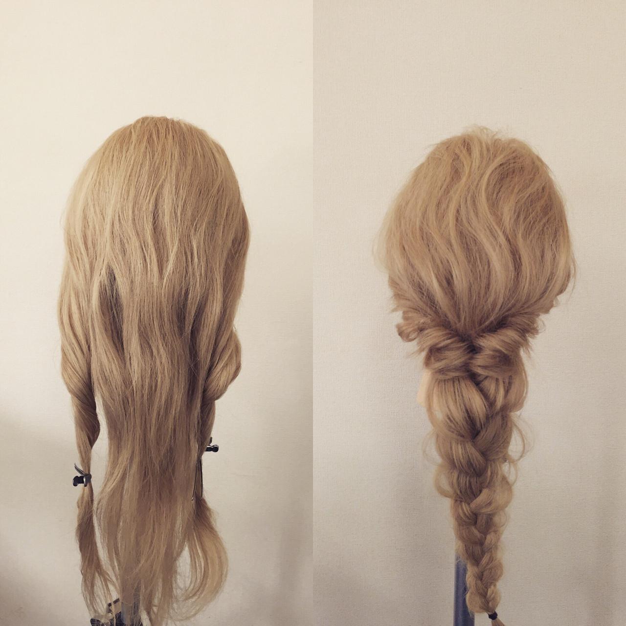 ロング ヘアアレンジ 大人かわいい 簡単ヘアアレンジ ヘアスタイルや髪型の写真・画像 | 佐藤 允美 / Hair Space  ACT  LOCALLY(アクトローカリー)