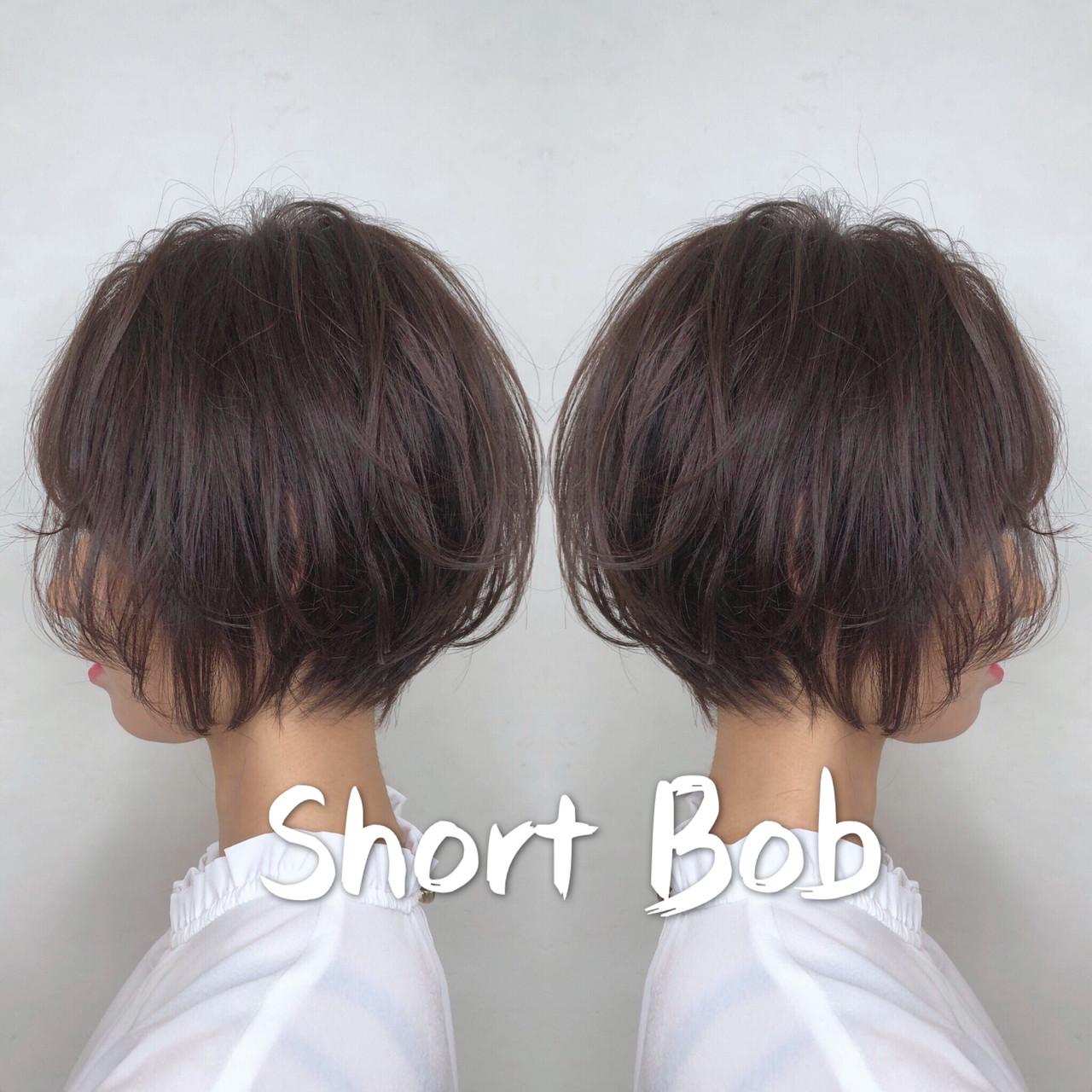 ハンサムショート ショートボブ デート ショート ヘアスタイルや髪型の写真・画像