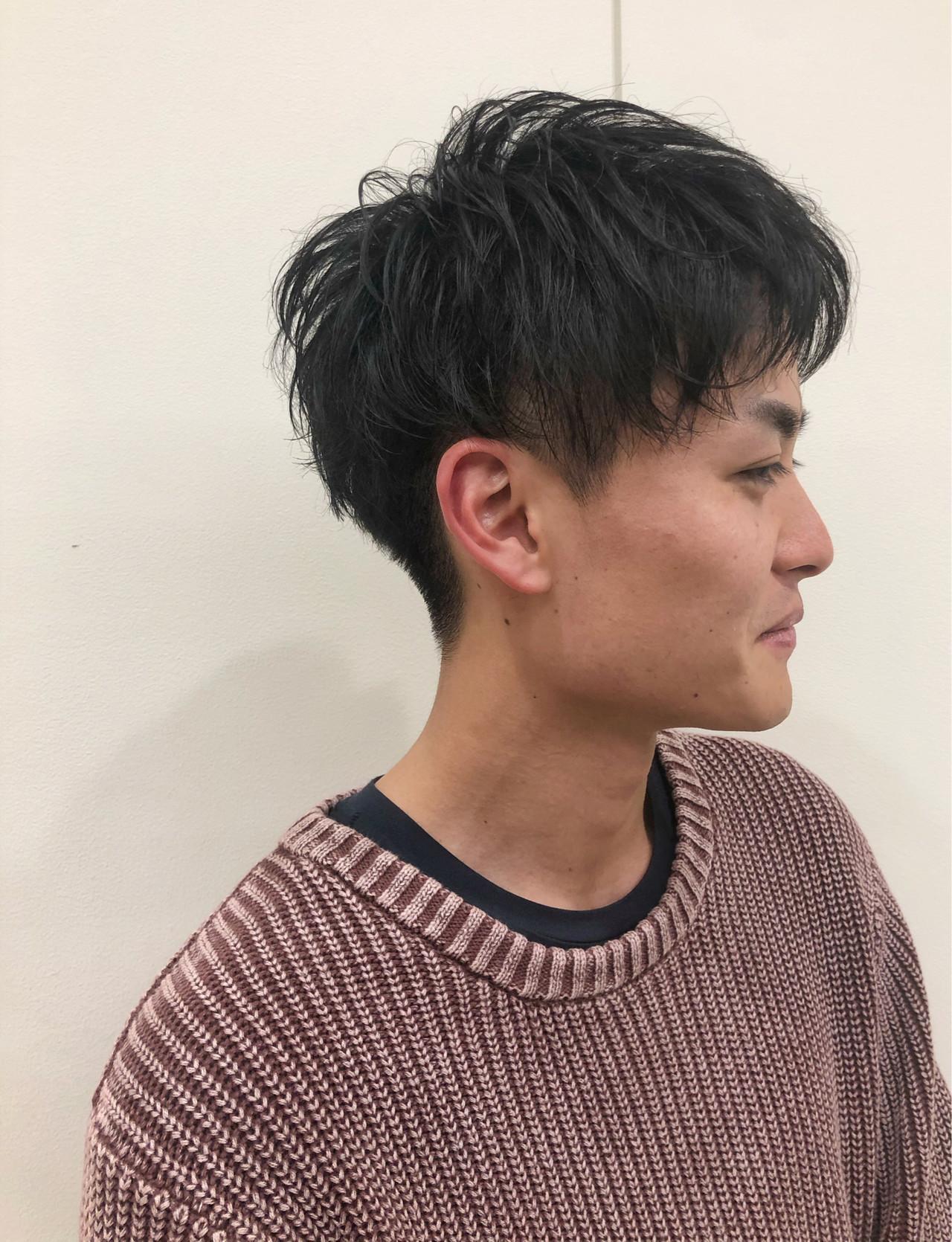 ショート メンズ メンズヘア ナチュラル ヘアスタイルや髪型の写真・画像 | 寺本 由樹 / モリオフロムロンドン大宮店