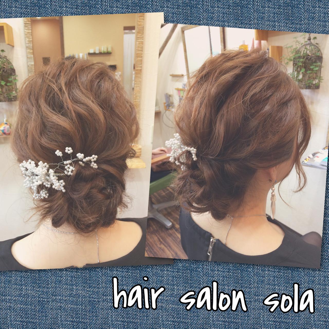 ゆるふわ ショート 簡単ヘアアレンジ アップスタイル ヘアスタイルや髪型の写真・画像 | 内藤彰紀 / hair salon sola