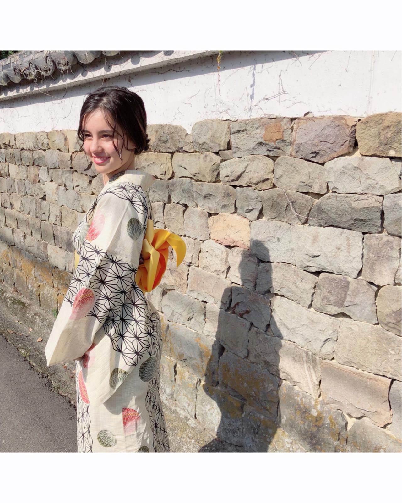 和装 夏 ガーリー 黒髪 ヘアスタイルや髪型の写真・画像 | 川内道子 instagram→michiko_k / Noelle インスタ→michiko_k