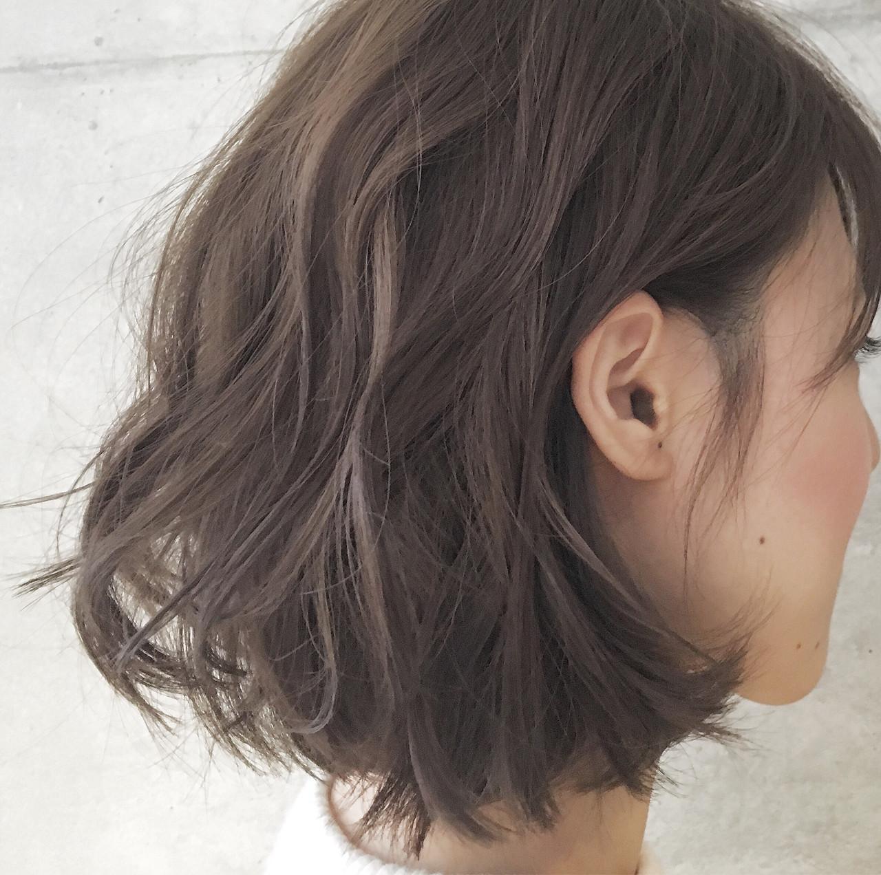 グラデーションカラー ハイライト ボブ 外国人風 ヘアスタイルや髪型の写真・画像 | Sayaka / diptyMOILA