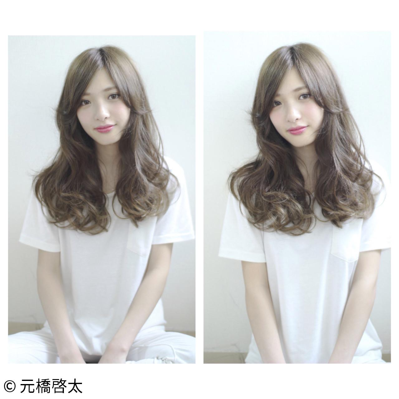 フェミニン ハイライト ロング 外国人風 ヘアスタイルや髪型の写真・画像   元橋啓太 / snob
