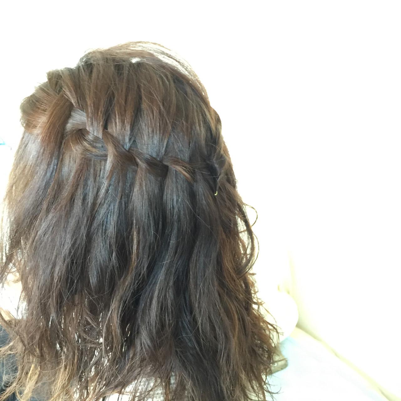 ミディアム ヘアアレンジ 簡単ヘアアレンジ 夏 ヘアスタイルや髪型の写真・画像