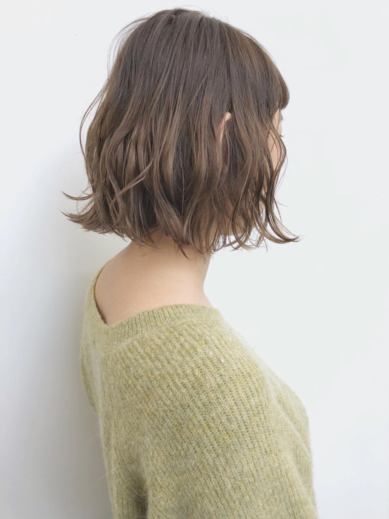 グラデーションカラー 透明感 ナチュラル ボブ ヘアスタイルや髪型の写真・画像