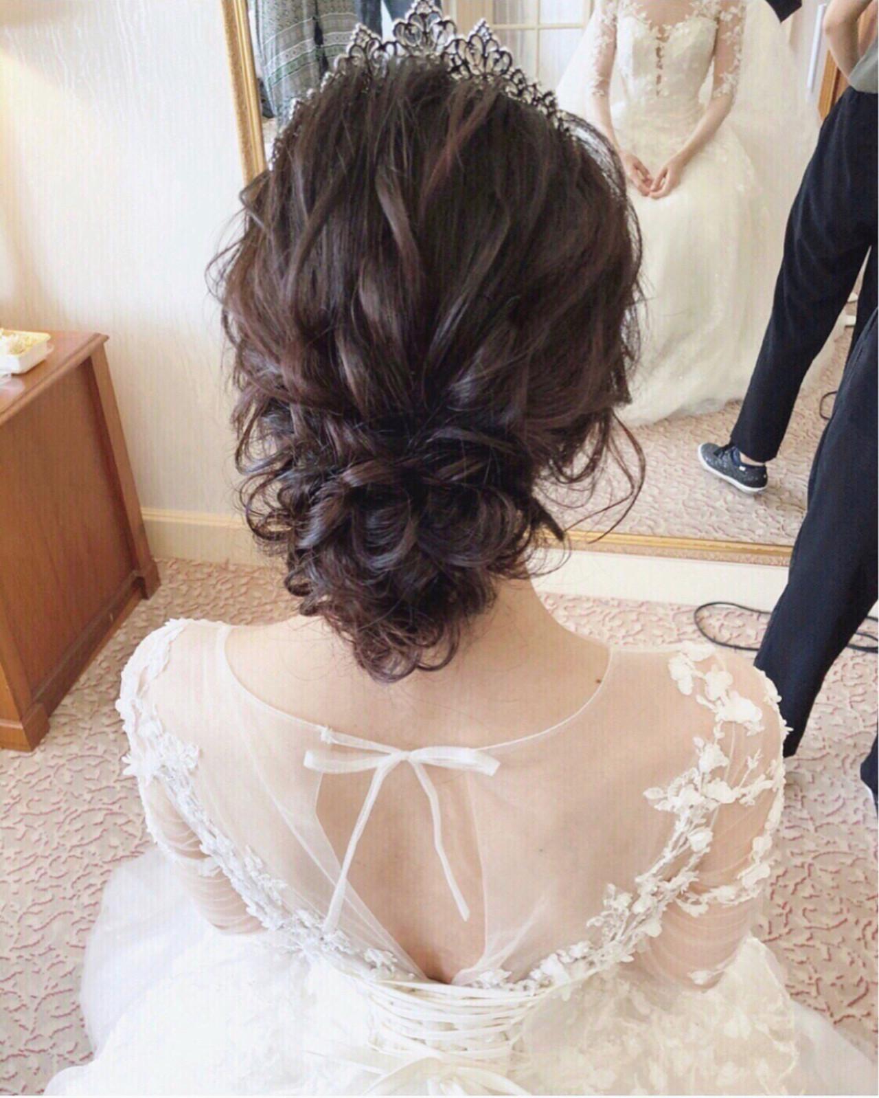 ゆるふわ 結婚式 アンニュイ ヘアアレンジ ヘアスタイルや髪型の写真・画像