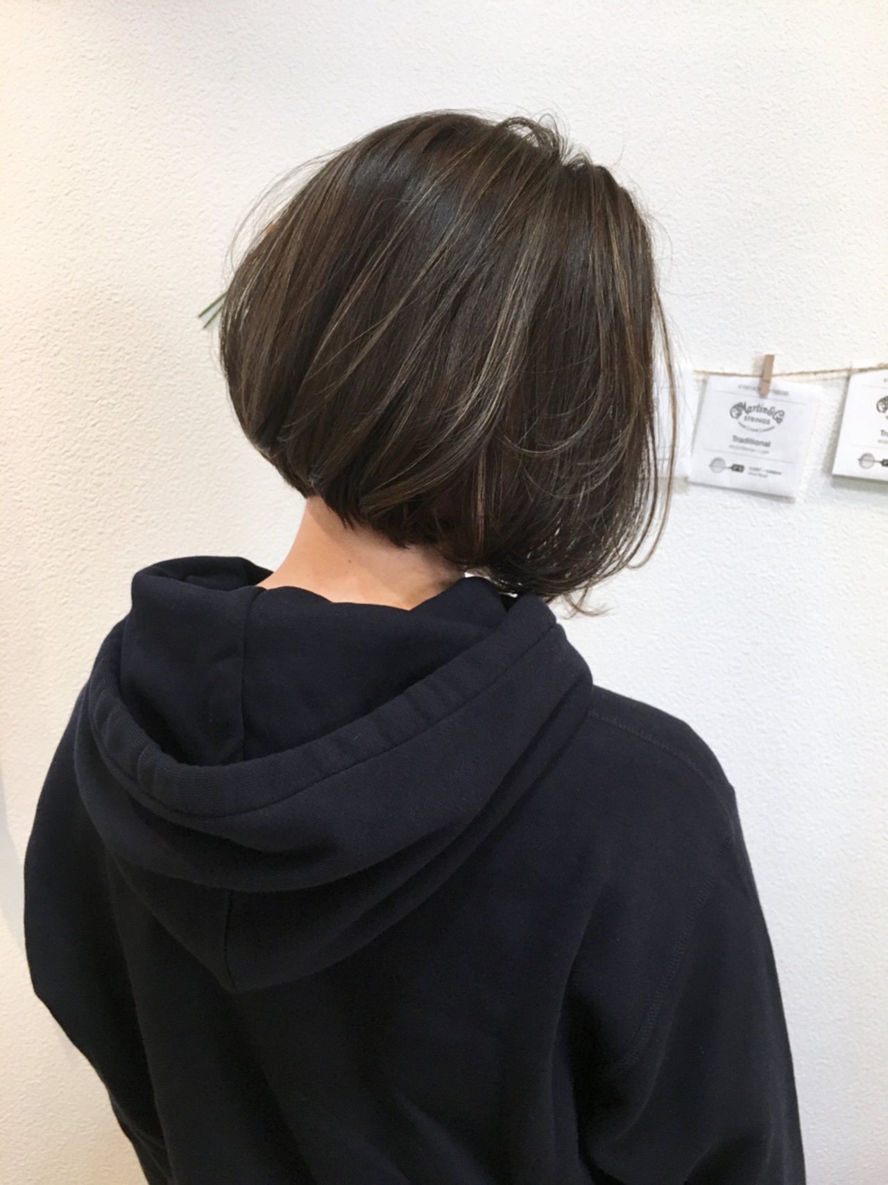 ナチュラル 透明感 色気 前下がり ヘアスタイルや髪型の写真・画像
