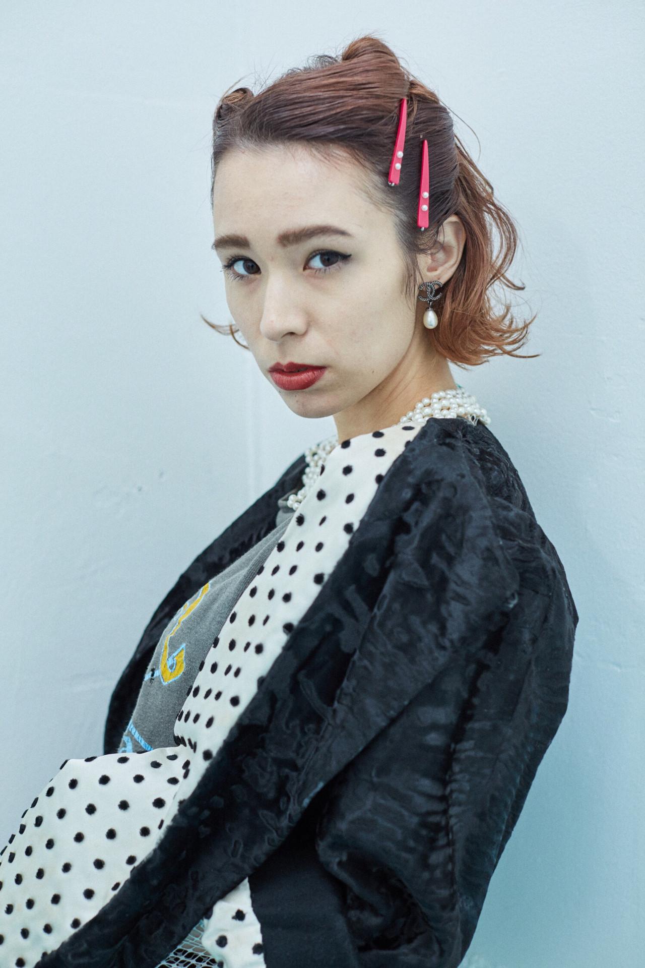 透明感 モード アッシュ 個性的 ヘアスタイルや髪型の写真・画像