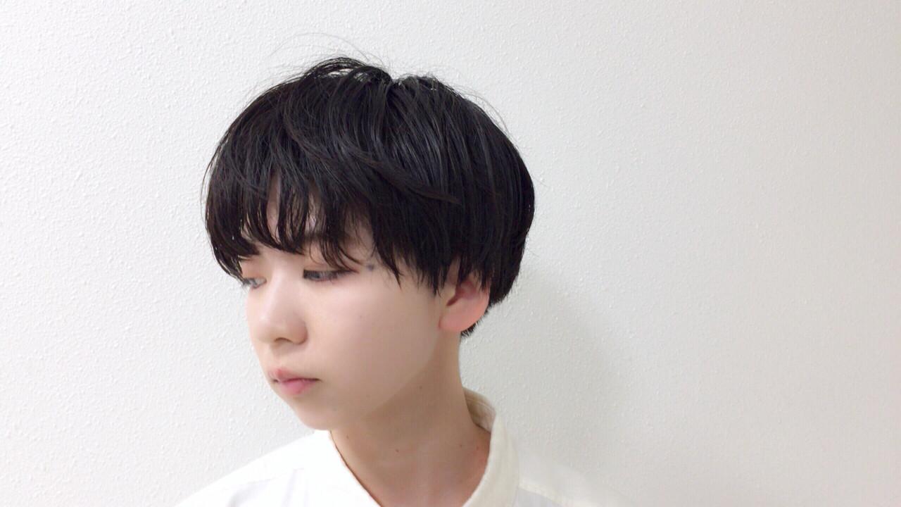 暗髪 ショート 大人女子 黒髪 ヘアスタイルや髪型の写真・画像 | Taniguchi Yukiko / IRODORI hair design