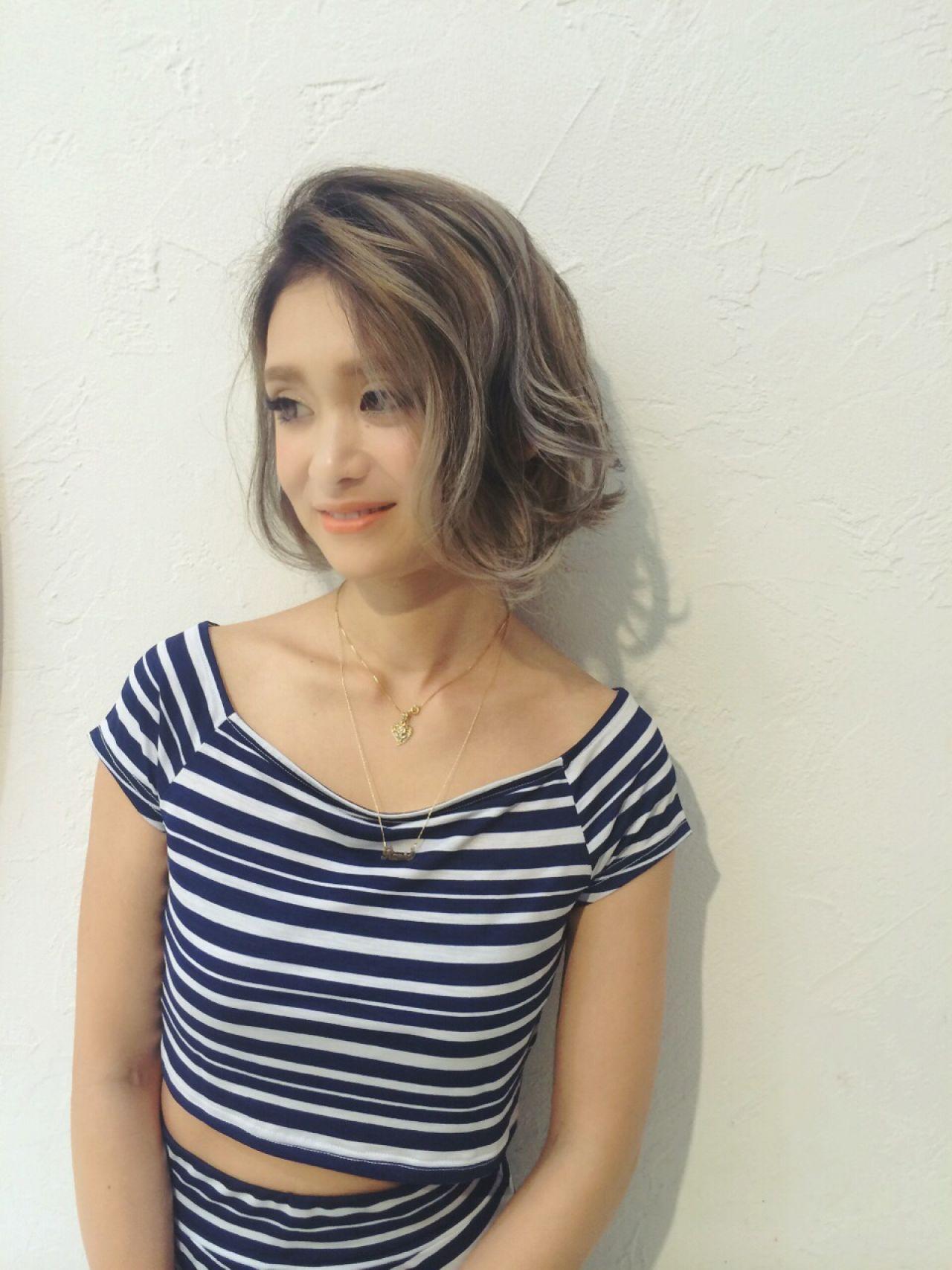 愛され グラデーションカラー ストリート ボブ ヘアスタイルや髪型の写真・画像 | RUMINA //高田ゆみこ / Rumina