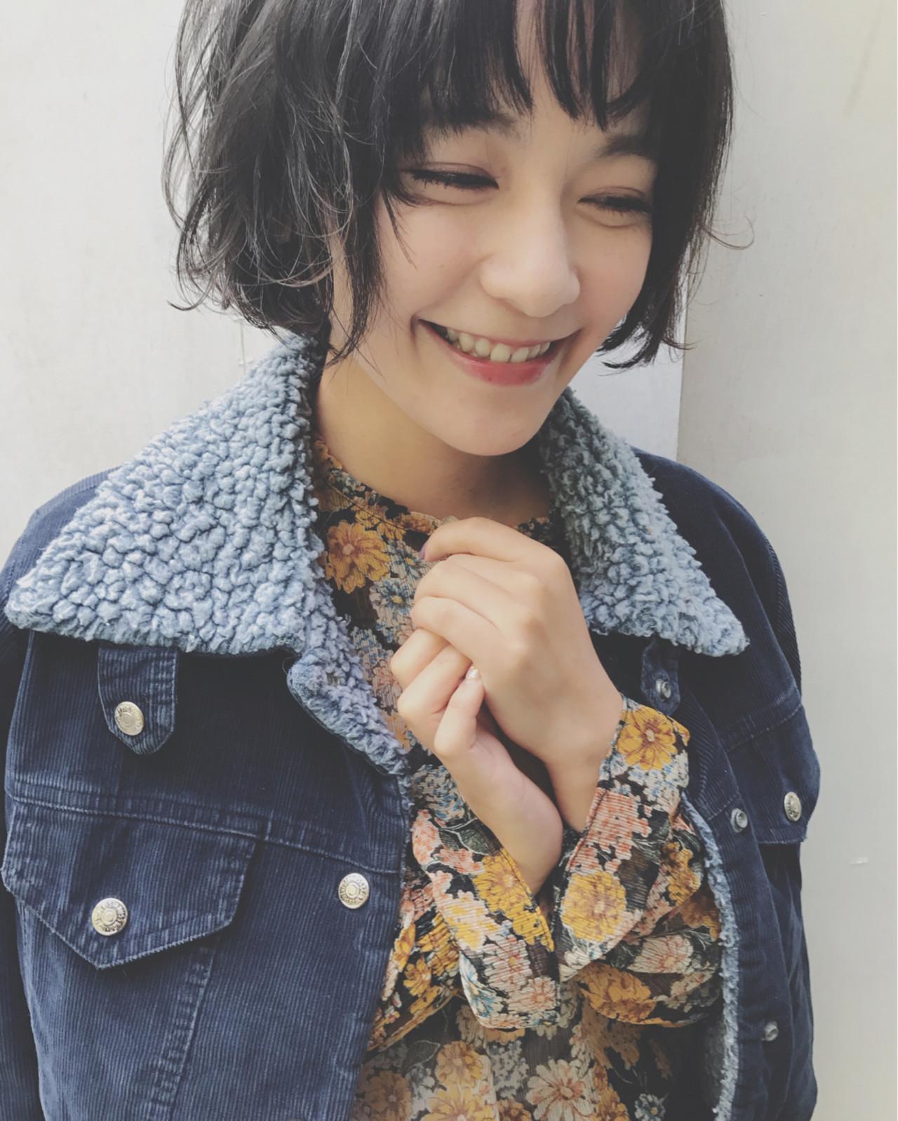 グレー 似合わせ ショート かわいい ヘアスタイルや髪型の写真・画像 | 間島 勇大 / Gigi