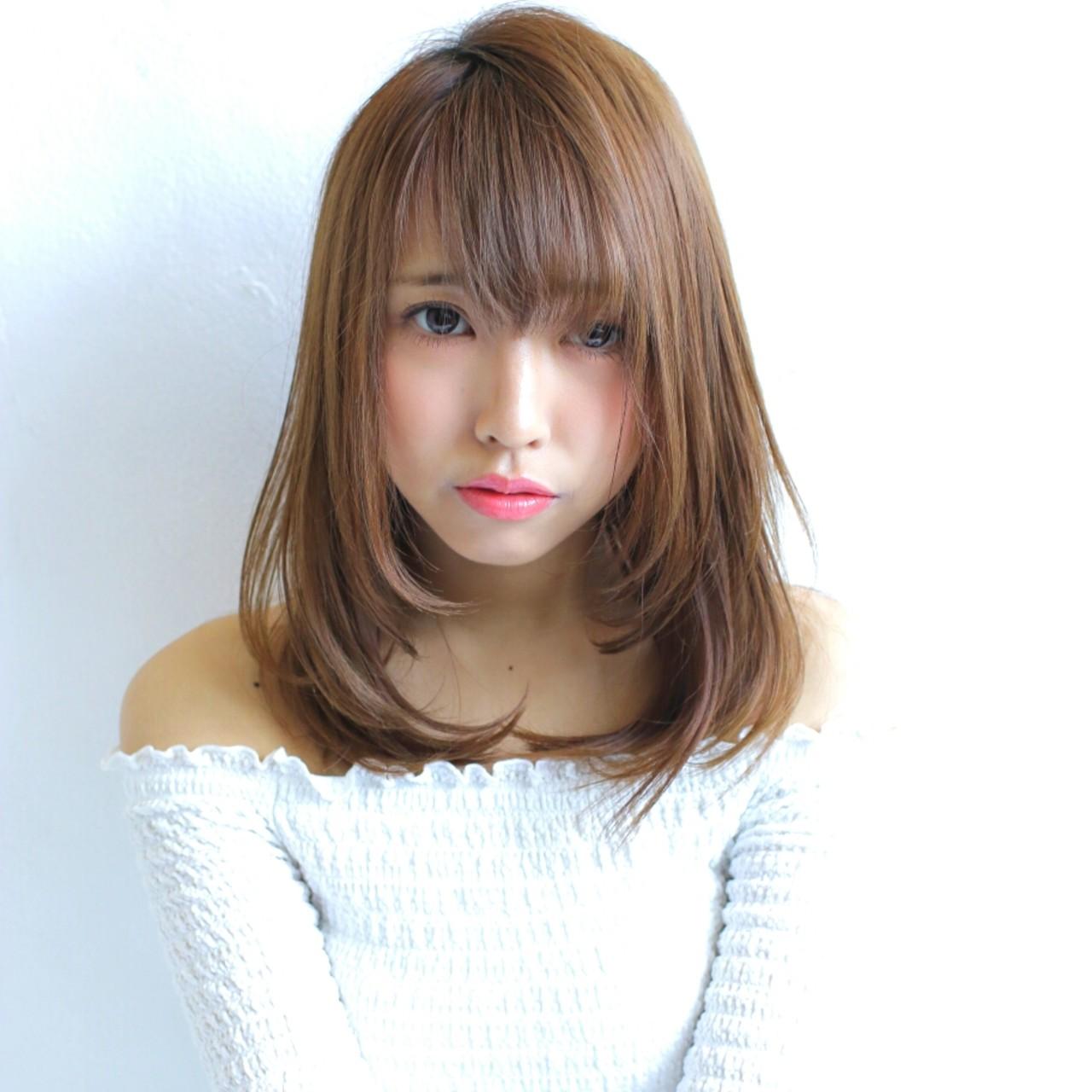 パーマ 縮毛矯正 ミディアム デート ヘアスタイルや髪型の写真・画像 | 澤近 直輝 / grace by afloat