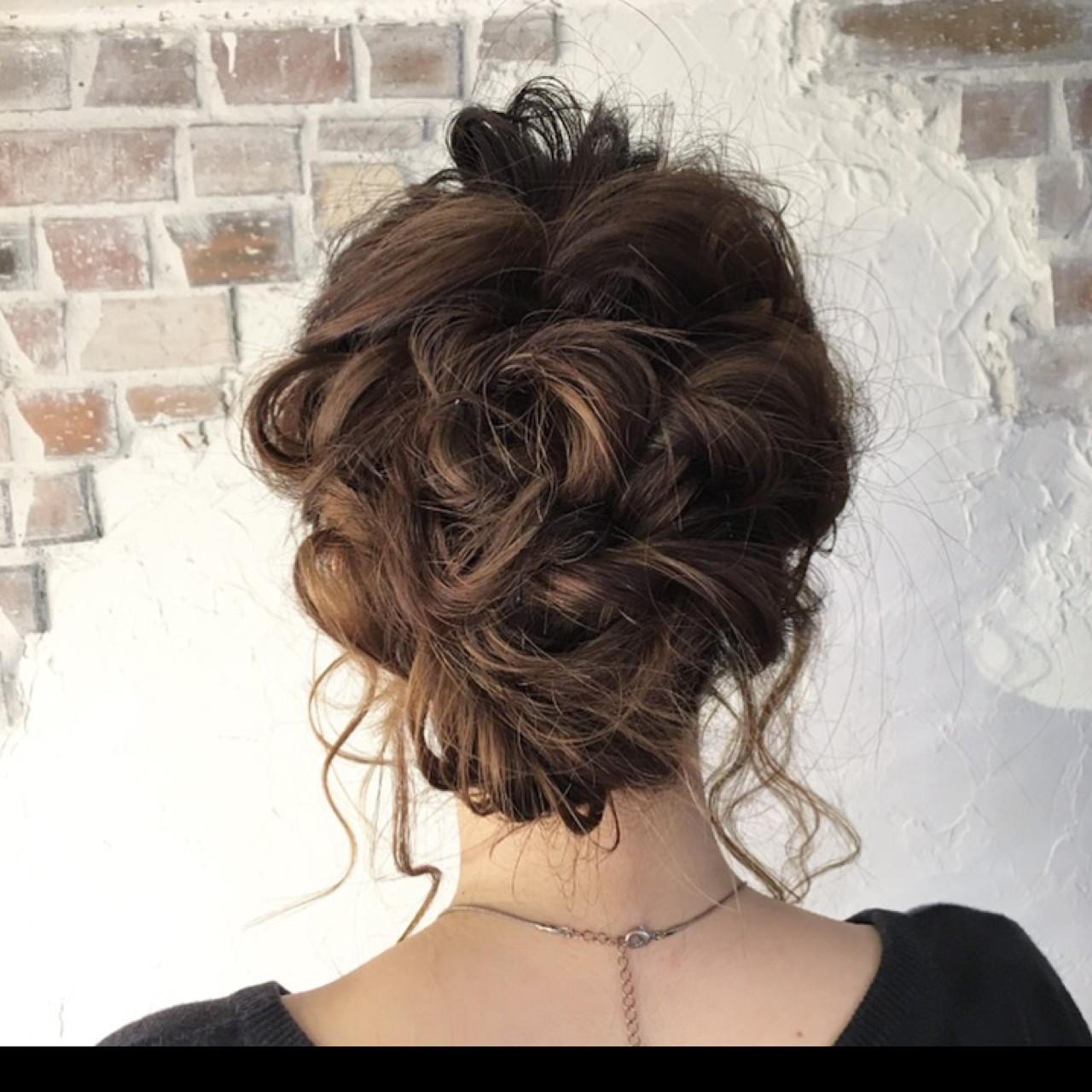 ミディアム ヘアアレンジ ショート ハーフアップ ヘアスタイルや髪型の写真・画像
