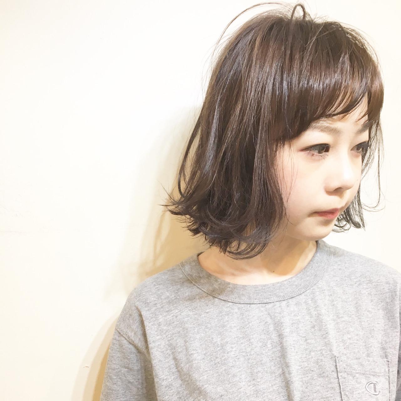 エアリーボブ × グレージュ ハイライトカラー☆