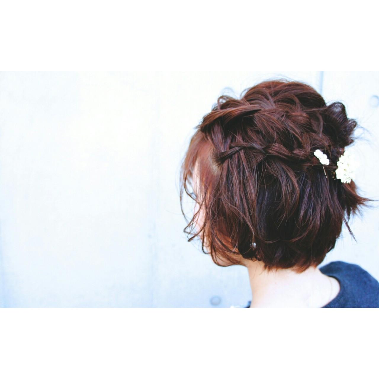 ハーフアップ 大人かわいい ヘアアレンジ 簡単ヘアアレンジ ヘアスタイルや髪型の写真・画像