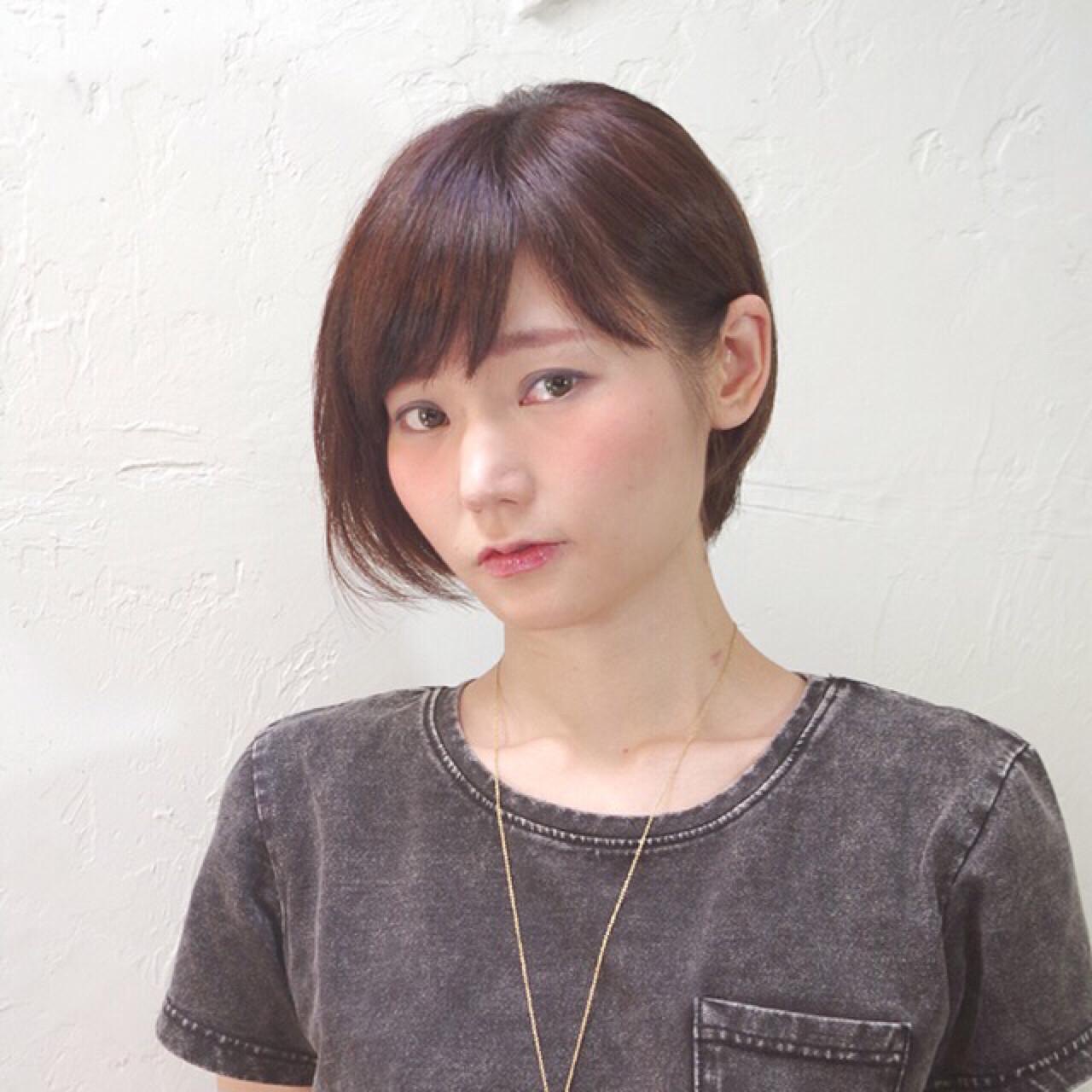 ナチュラル ボブ ピュア 前髪あり ヘアスタイルや髪型の写真・画像 | Nao Kokubun blast / blast