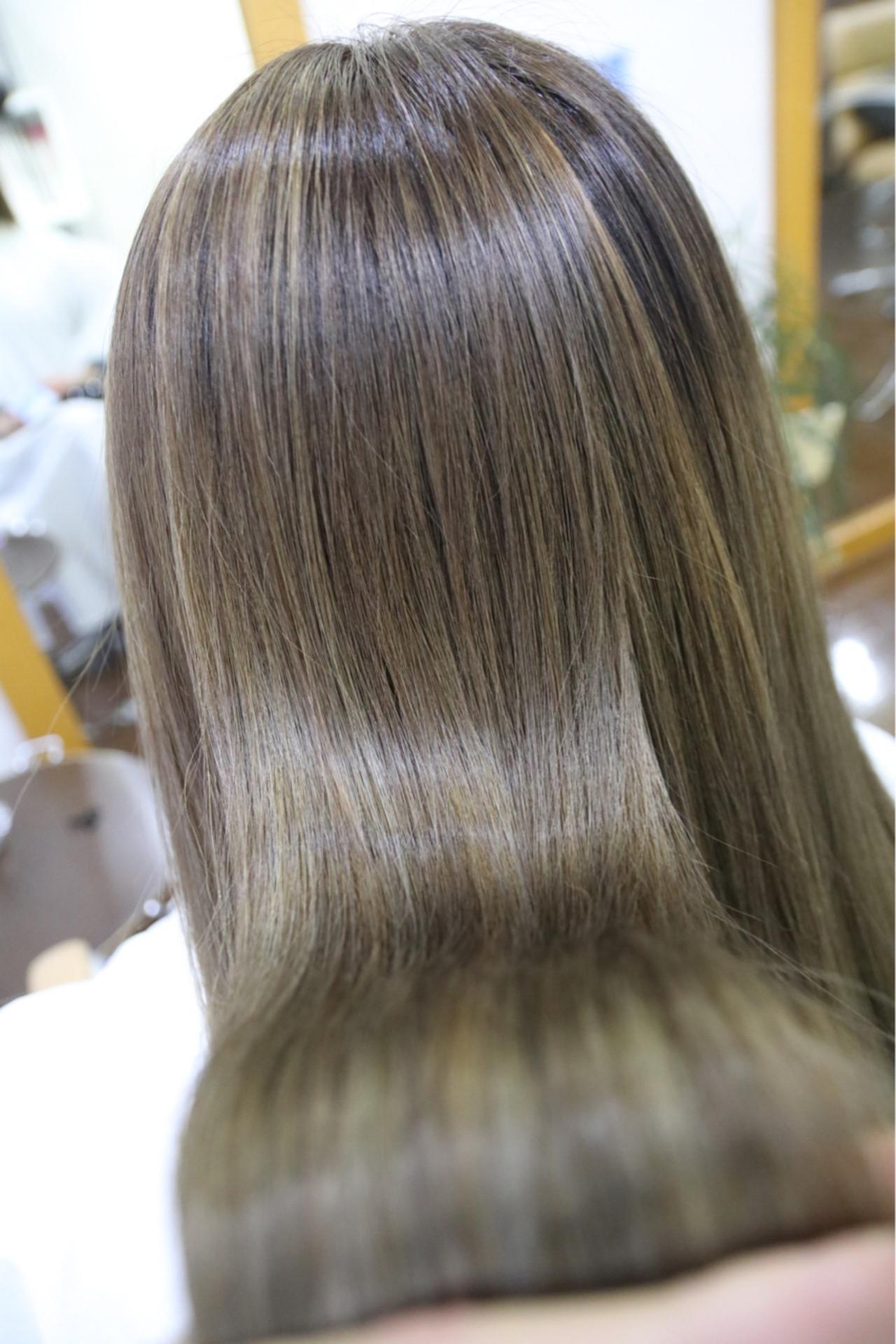 ハイライト 外国人風 ロング グラデーションカラー ヘアスタイルや髪型の写真・画像