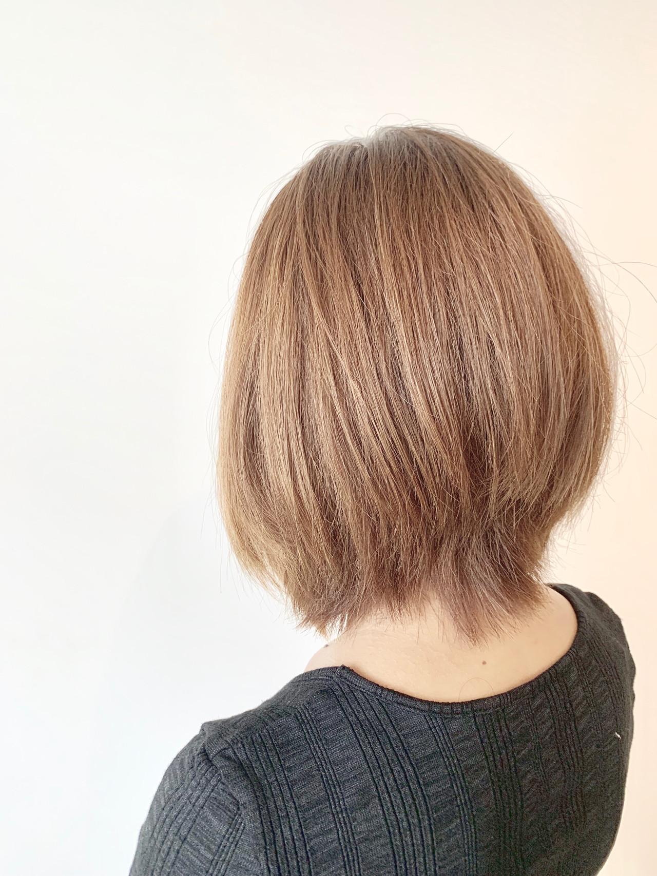 ボブ ショートボブ 簡単スタイリング 大人可愛い ヘアスタイルや髪型の写真・画像 | 村上 駿 / FRAMES hair design