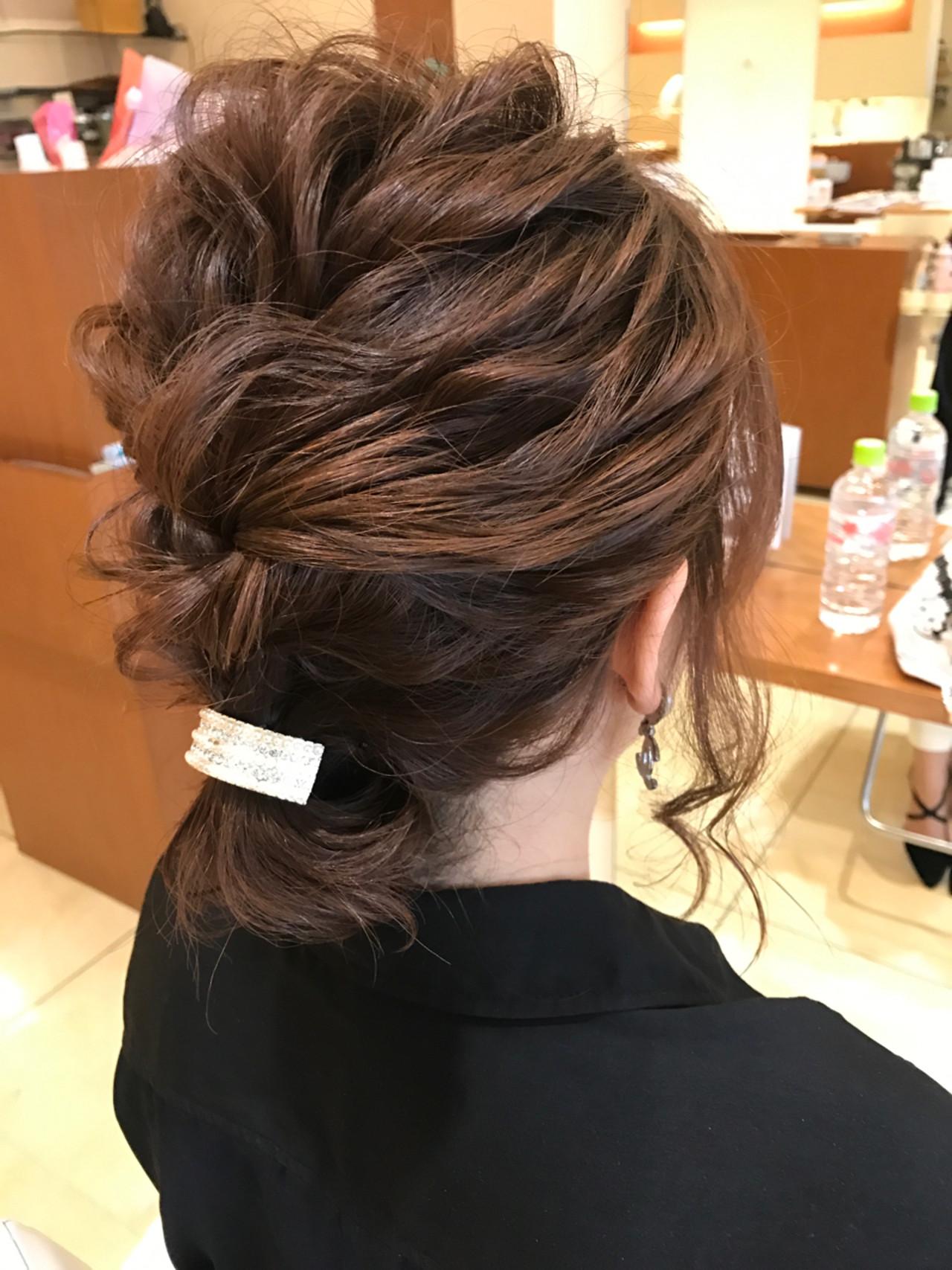 簡単ヘアアレンジ ハーフアップ ショート 結婚式 ヘアスタイルや髪型の写真・画像