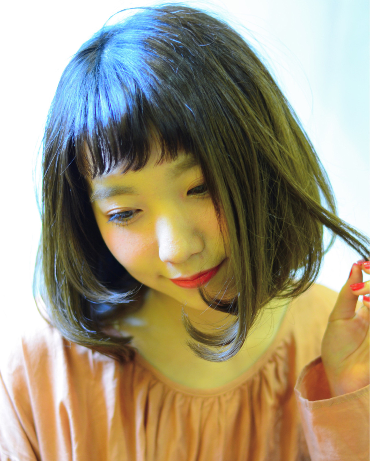 前髪あり 大人女子 フリンジバング 色気 ヘアスタイルや髪型の写真・画像 | 星野忍伸 / SHAMPOOBOY FLAP