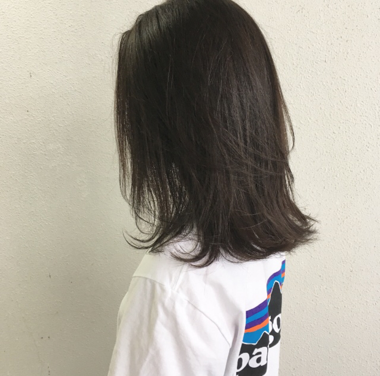 切りっぱなし ナチュラル ロブ 外ハネ ヘアスタイルや髪型の写真・画像 | 木下裕貴 / totti hair design