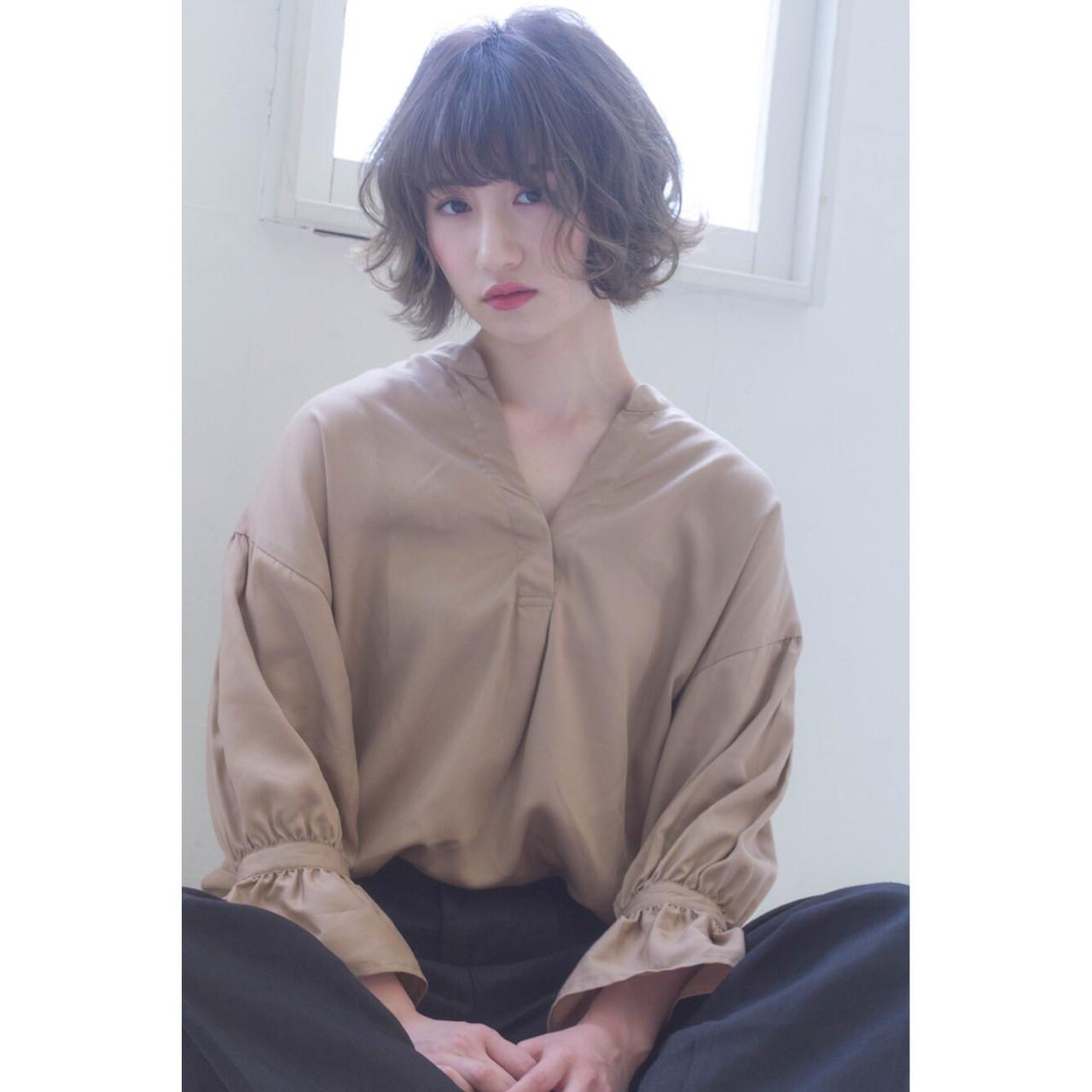 ストリート 外ハネ ショート ボブ ヘアスタイルや髪型の写真・画像   長谷川 聖太 / sowi hair design  (ソーイ)