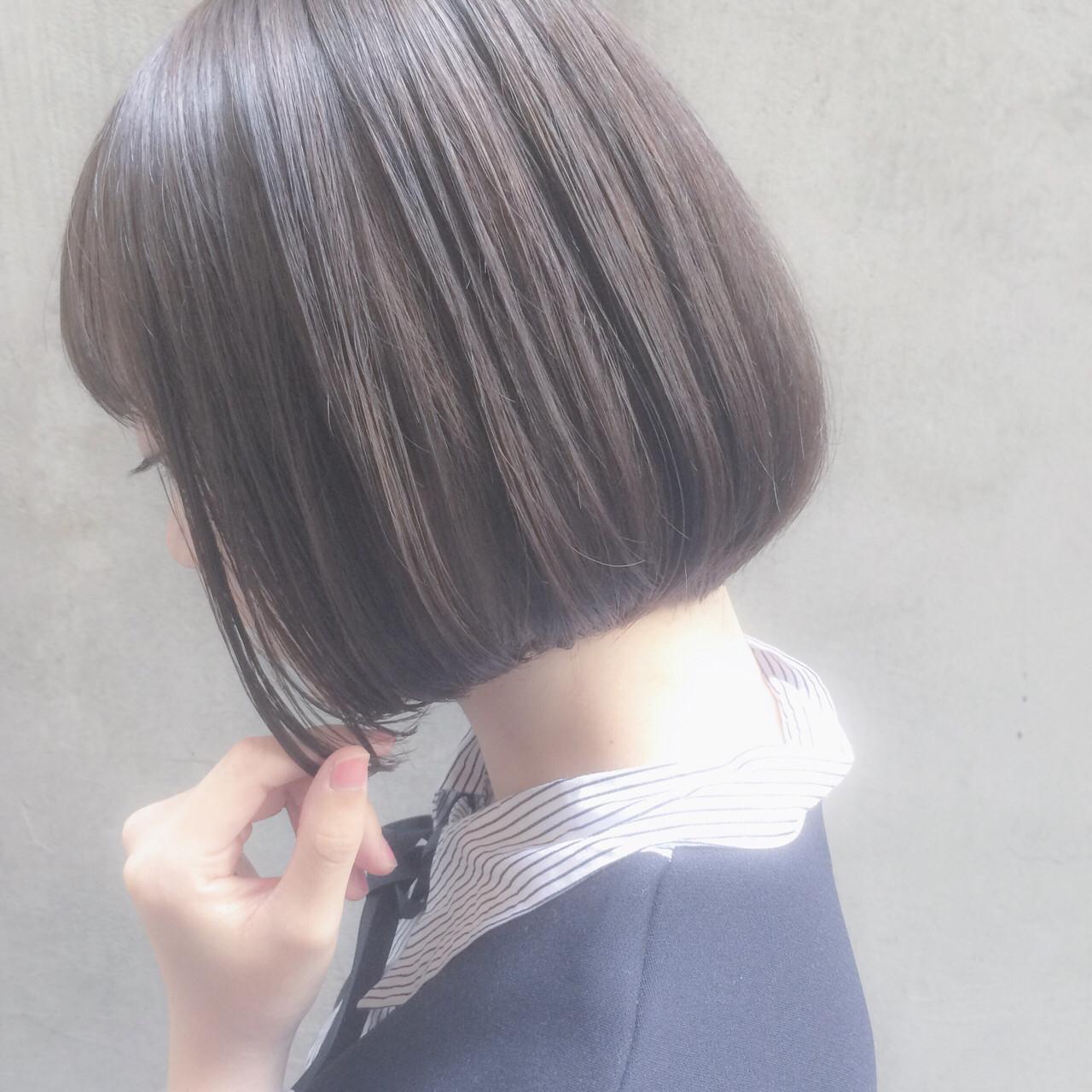 色気 大人かわいい ショート オフィス ヘアスタイルや髪型の写真・画像