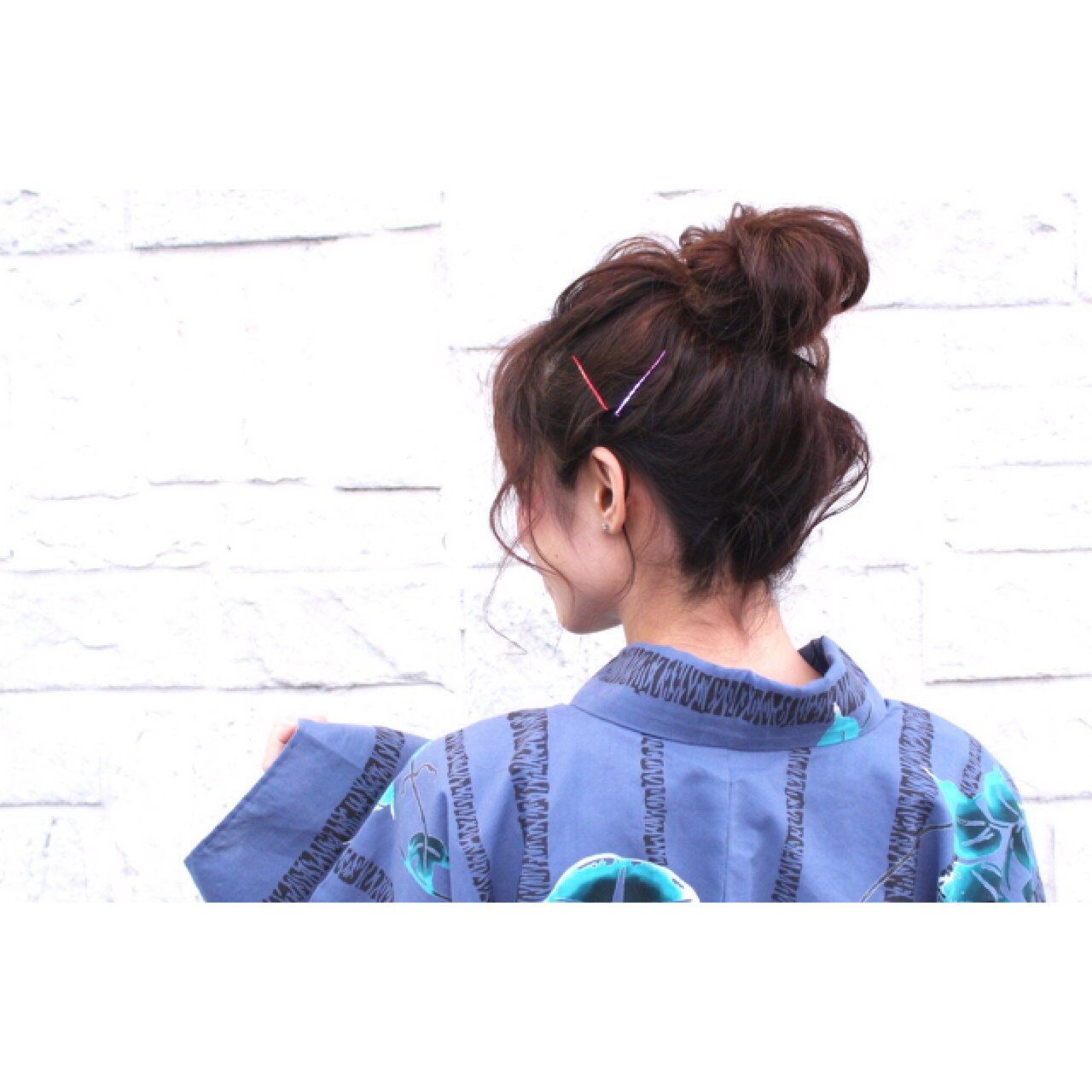 ルーズ 夏 花火大会 お団子 ヘアスタイルや髪型の写真・画像 | haruka /