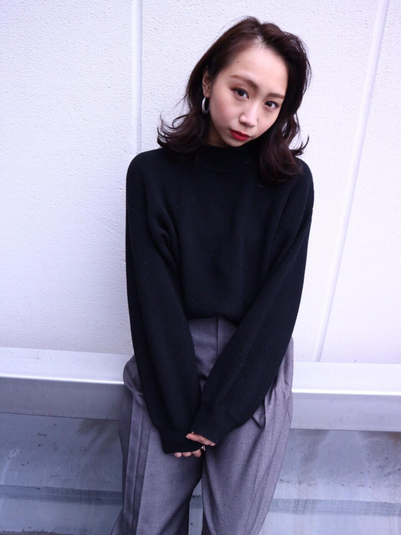 大人女子 ブルージュ モード ミディアム ヘアスタイルや髪型の写真・画像 | Takashi Tetone / SHIKIO HAIR DESIGN