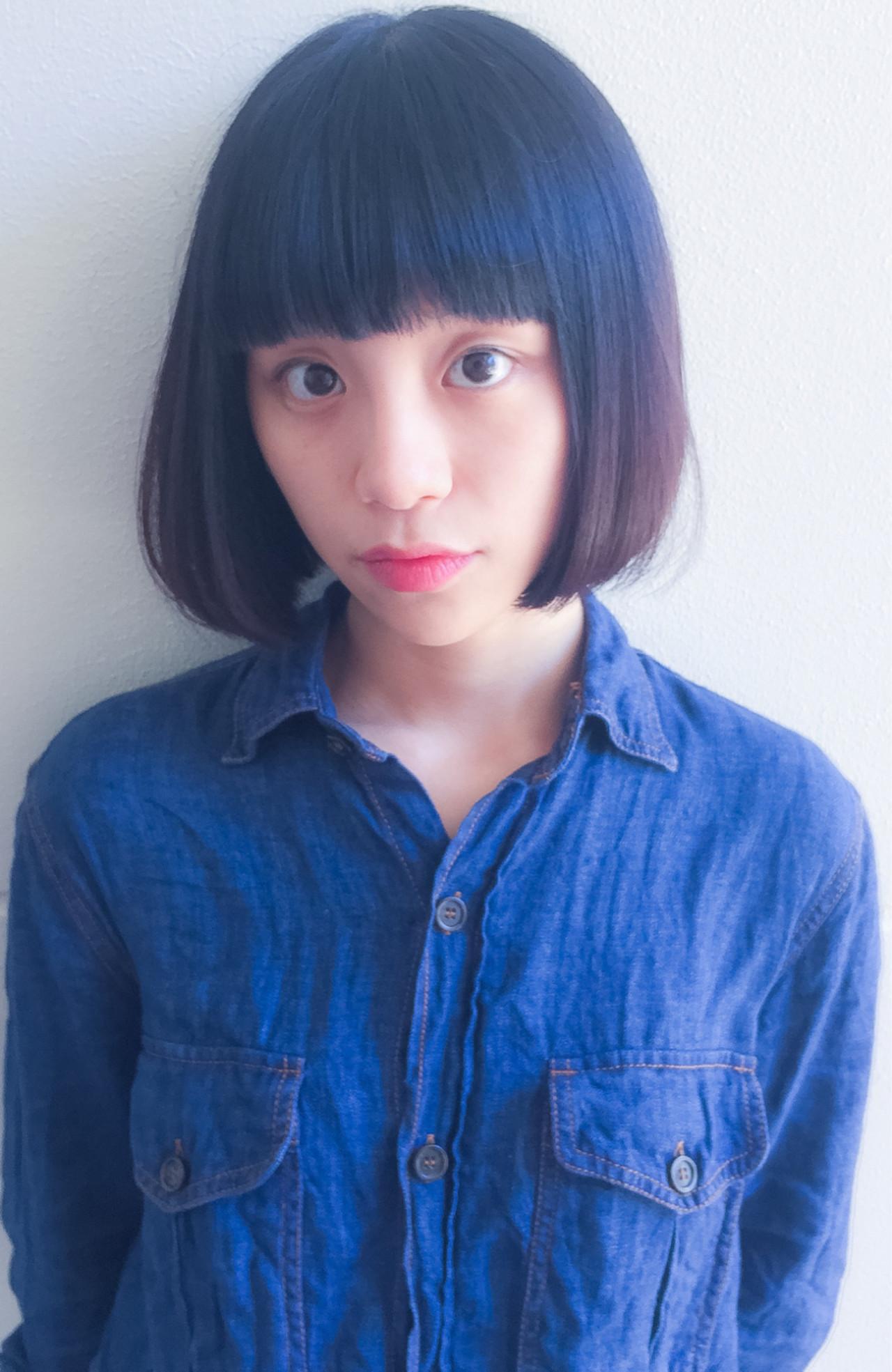 パーマ 黒髪 ピュア ガーリー ヘアスタイルや髪型の写真・画像