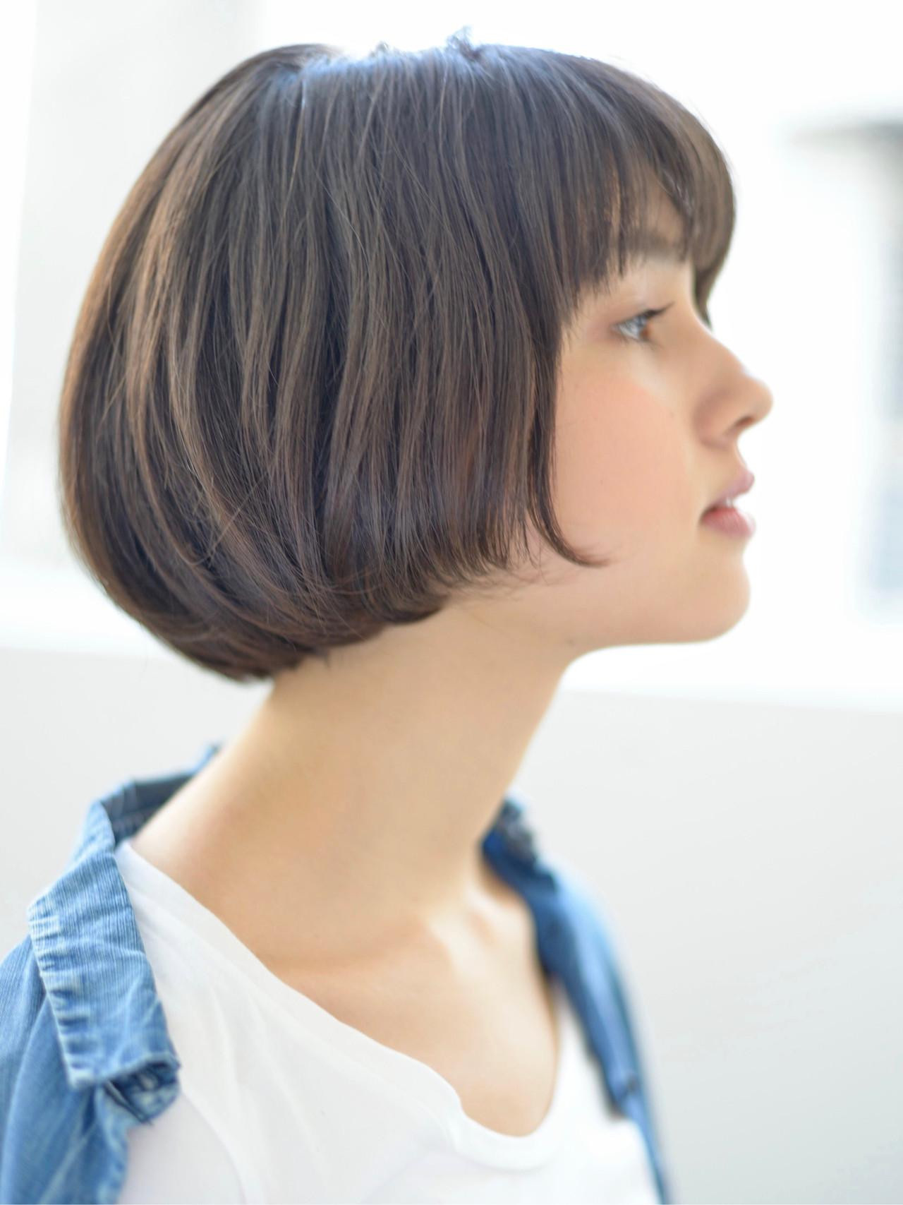 ショート ショートボブ ミニボブ ナチュラル ヘアスタイルや髪型の写真・画像 | 郡司 泰之 / ROJITHA 原宿 / ROJITHA