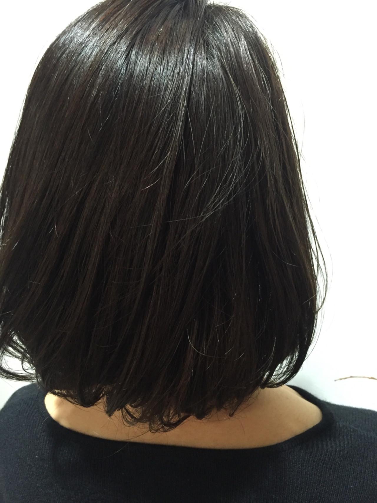 黒髪 暗髪 ボブ 色気 ヘアスタイルや髪型の写真・画像